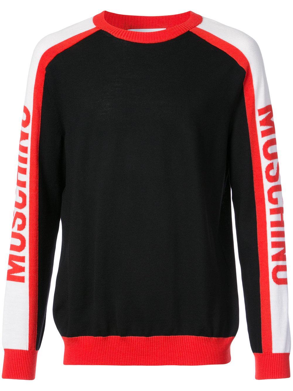 Moschino Contrast Sleeve Logo Sweater