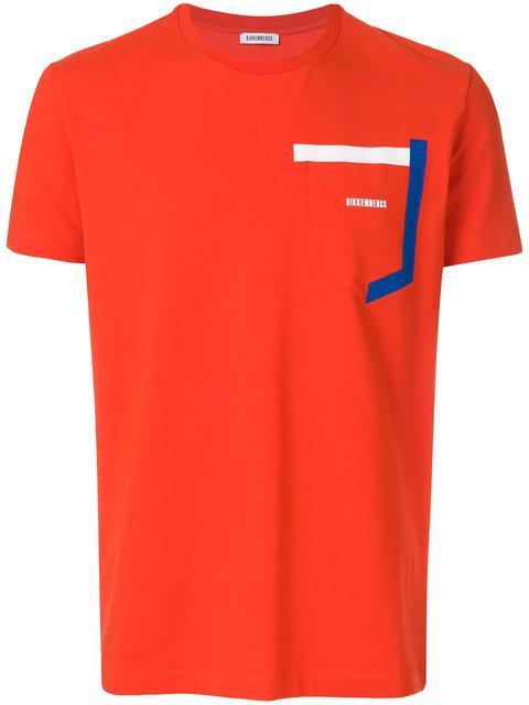 Dirk Bikkembergs Logo Patch T-shirt - Red