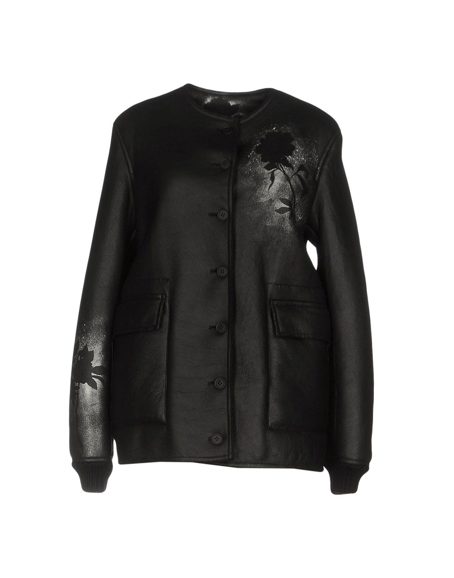 Christopher Kane Leather Jacket In Black
