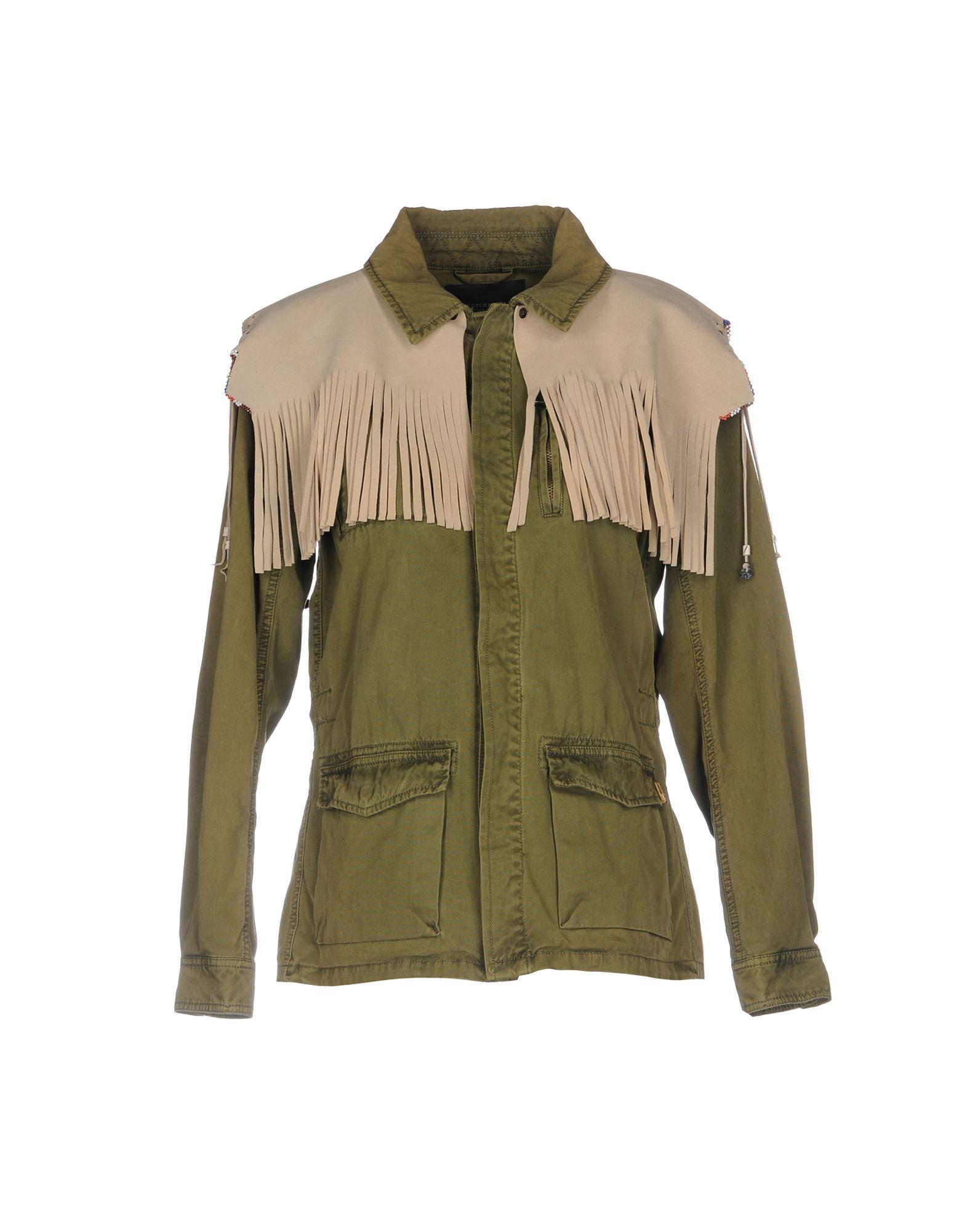 Scotch & Soda Jackets In Military Green