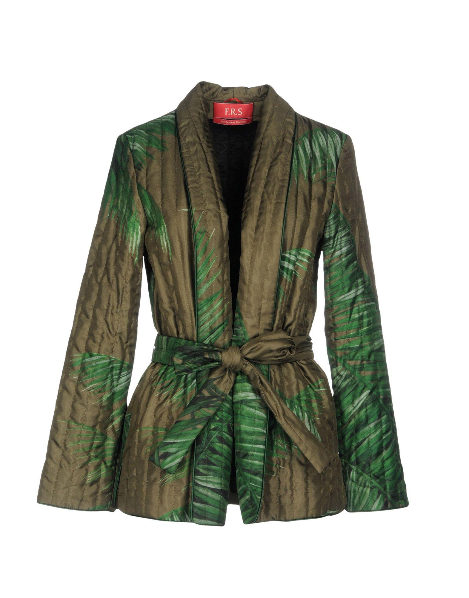 F.r.s For Restless Sleepers Jackets In Military Green
