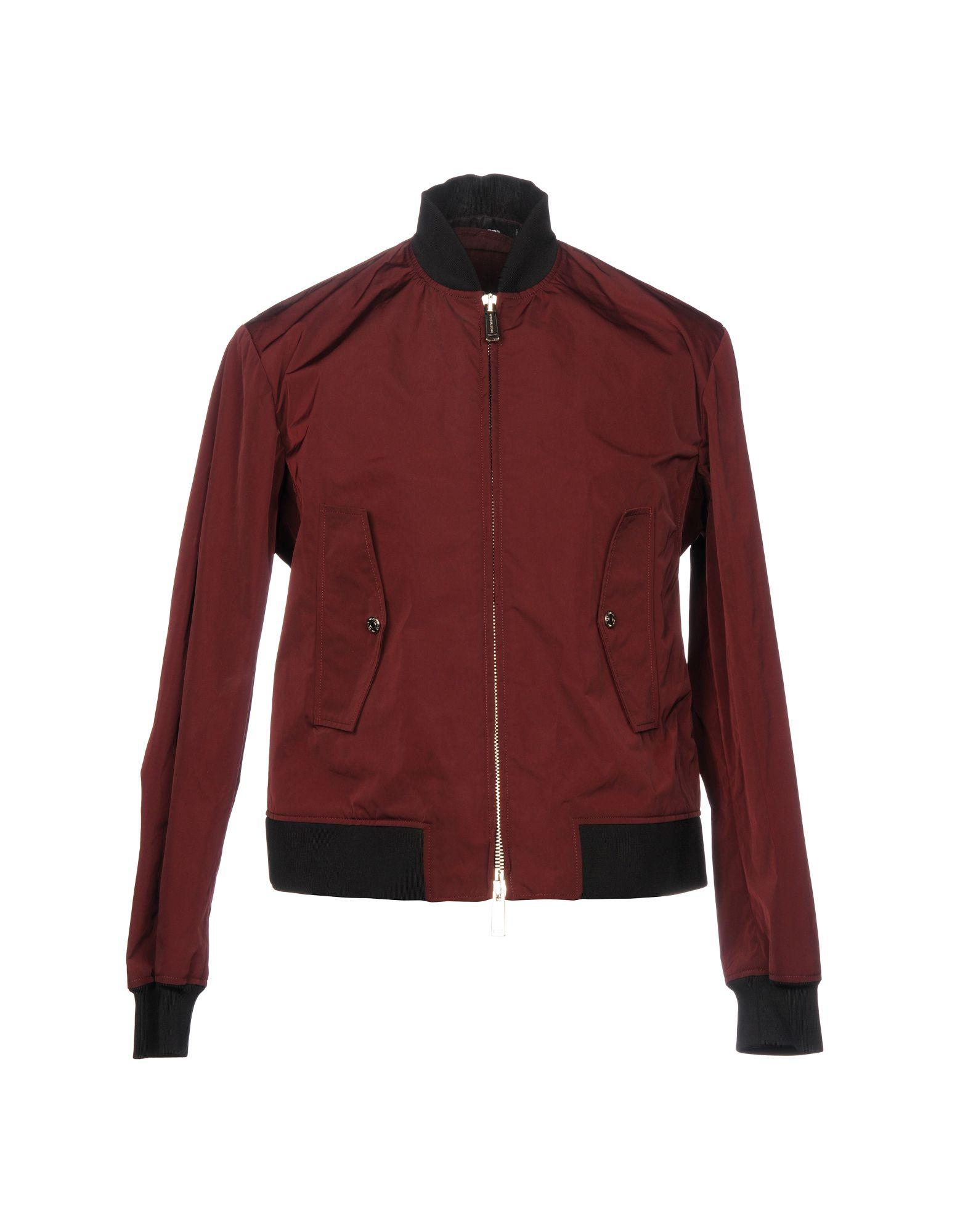 Dsquared2 Jackets In Maroon