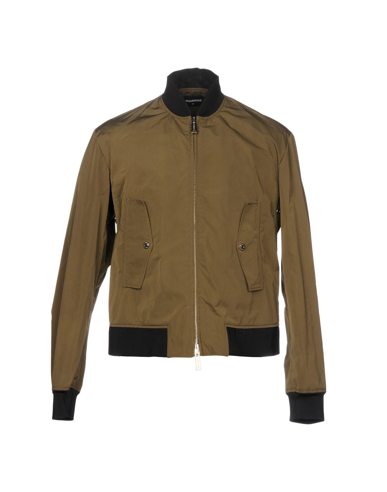 Dsquared2 Jackets In Military Green