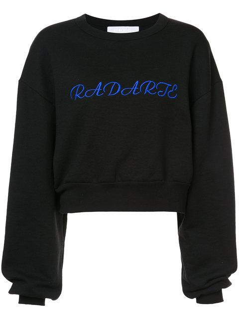 Rodarte Cropped Logo Sweatshirt