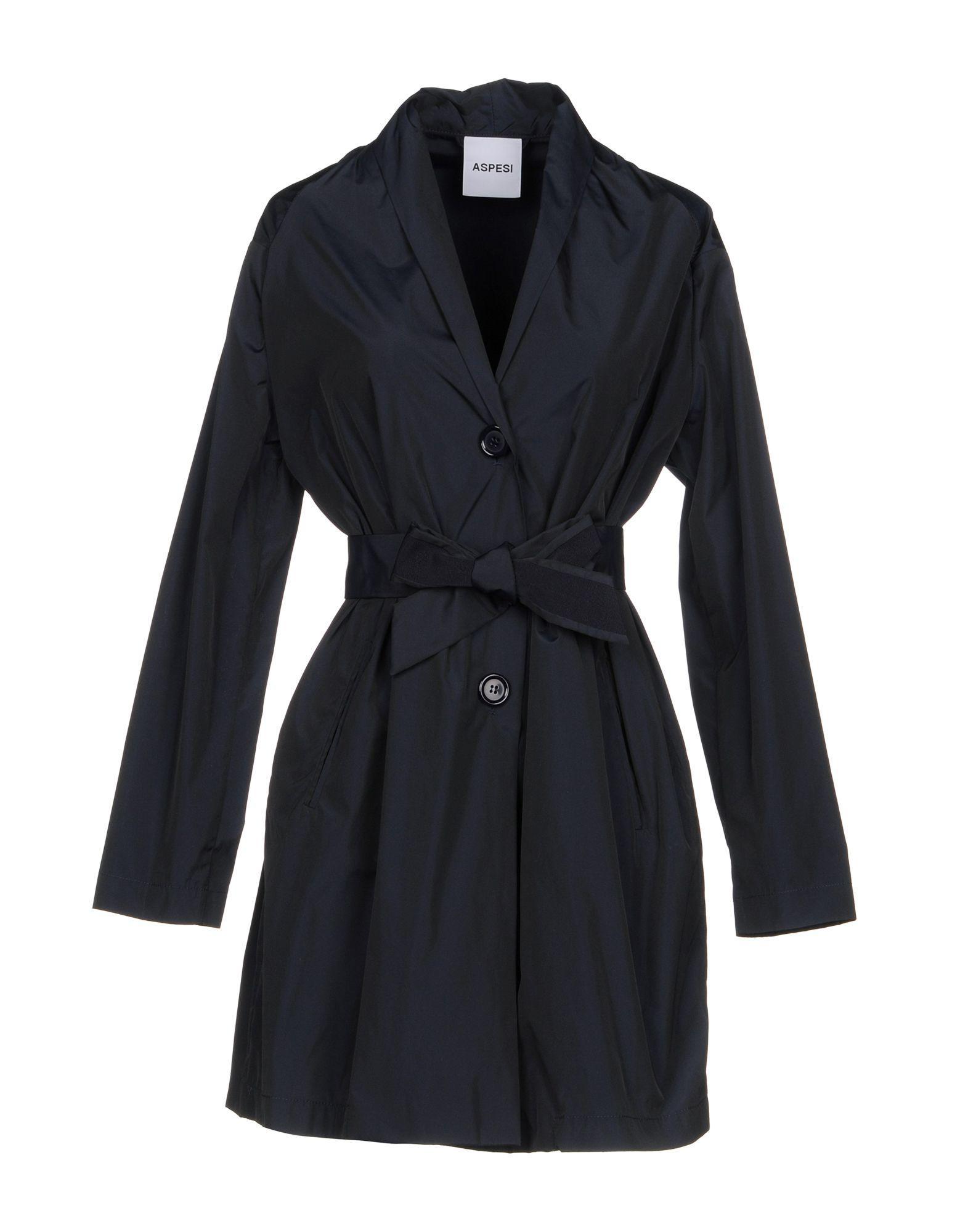 Aspesi Full-length Jacket In Dark Blue