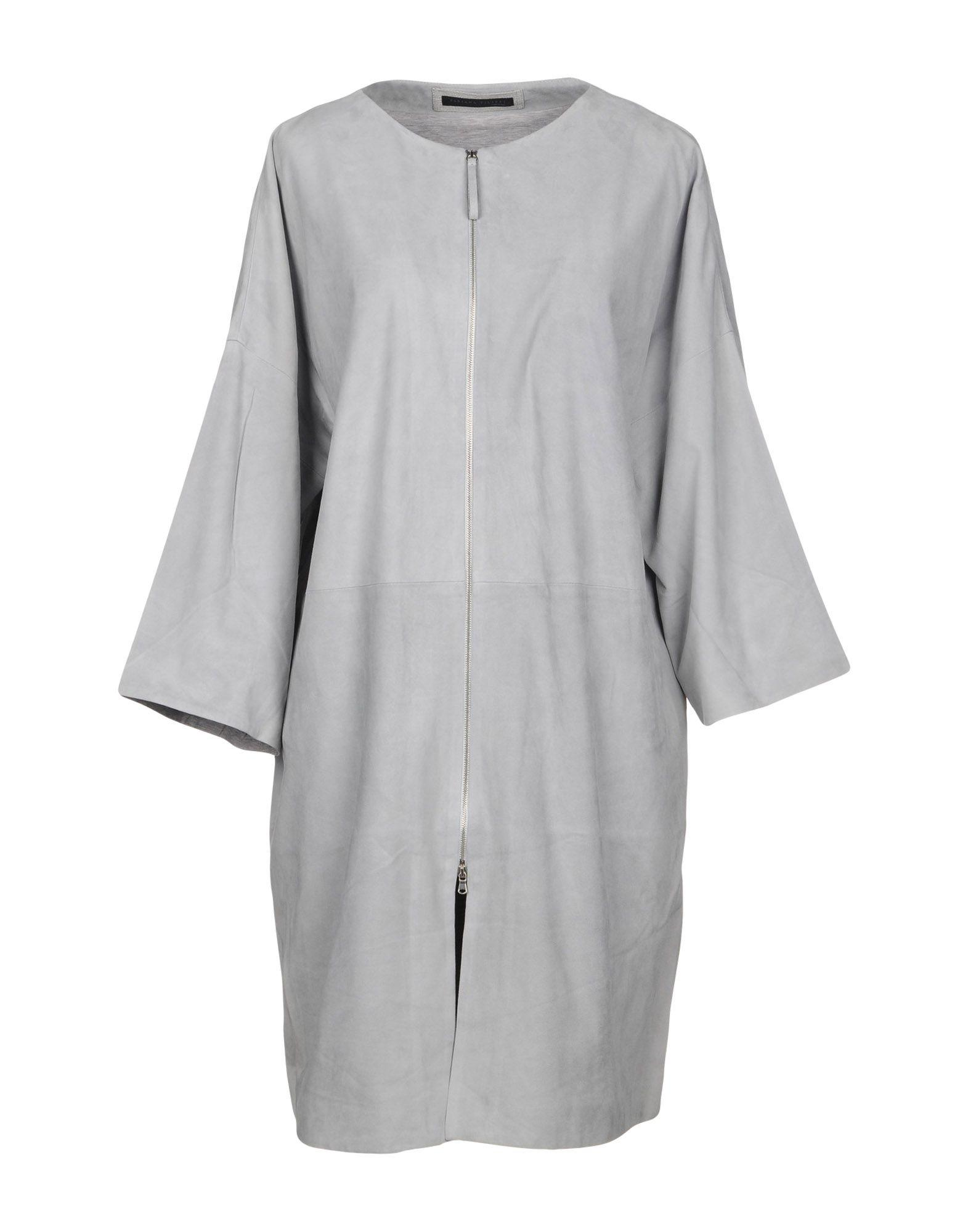 Fabiana Filippi Full-length Jacket In Light Grey