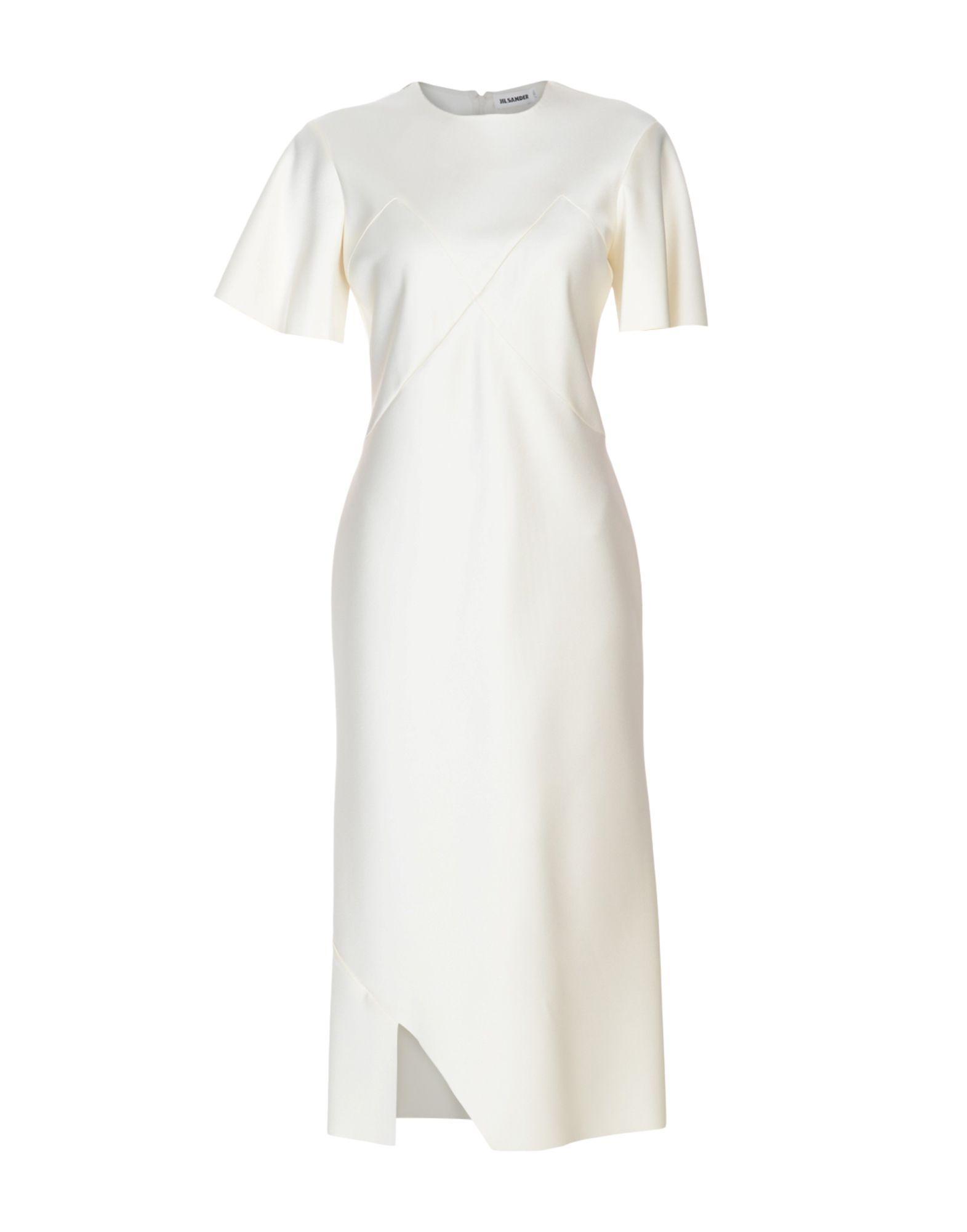 Jil Sander 3/4 Length Dresses In Ivory