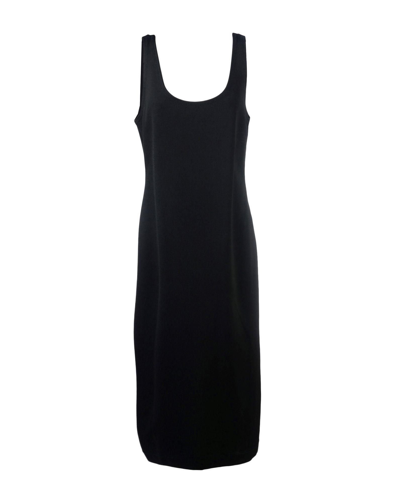 Dkny 3/4 Length Dresses In Black