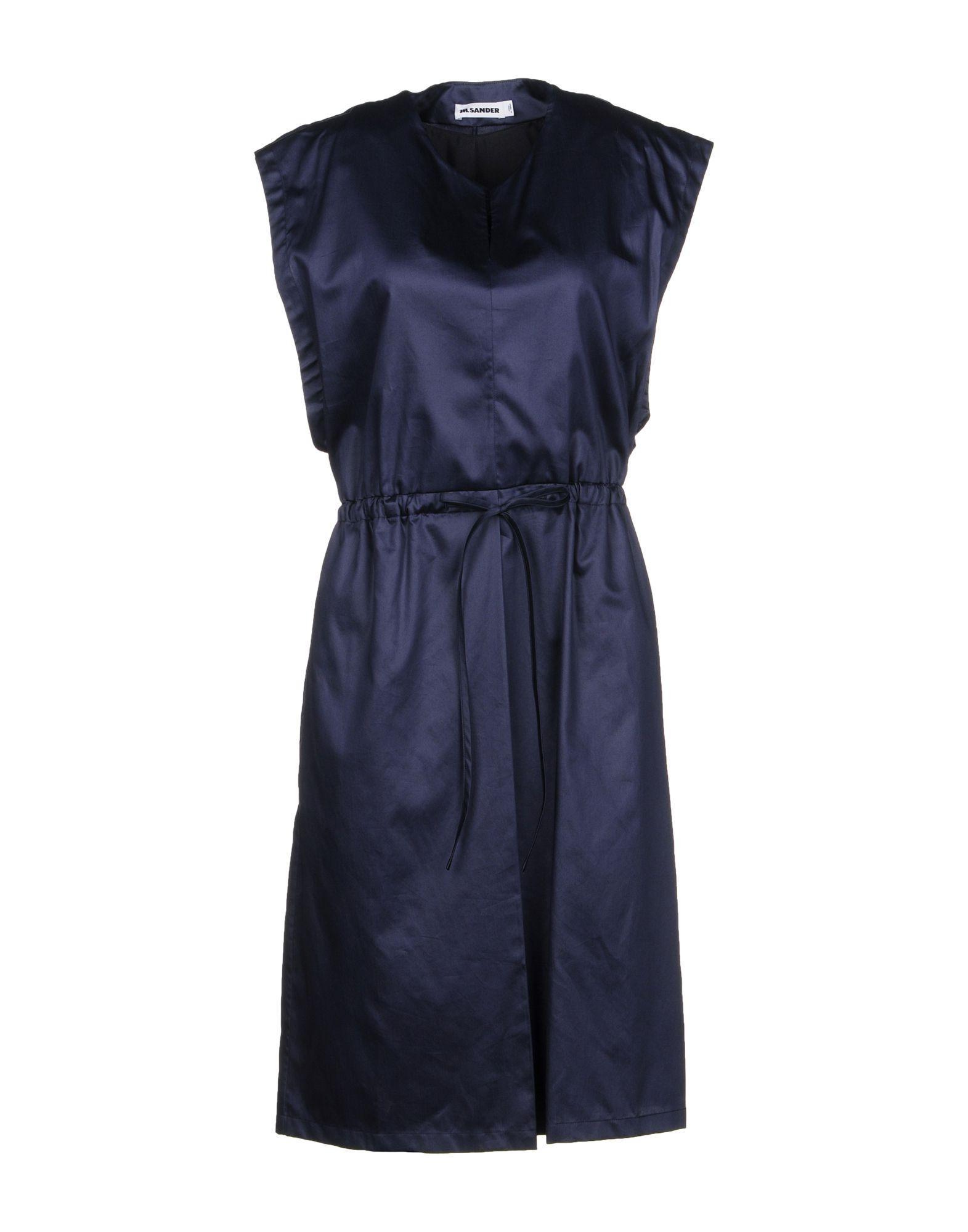 Jil Sander Knee-length Dress In Dark Blue