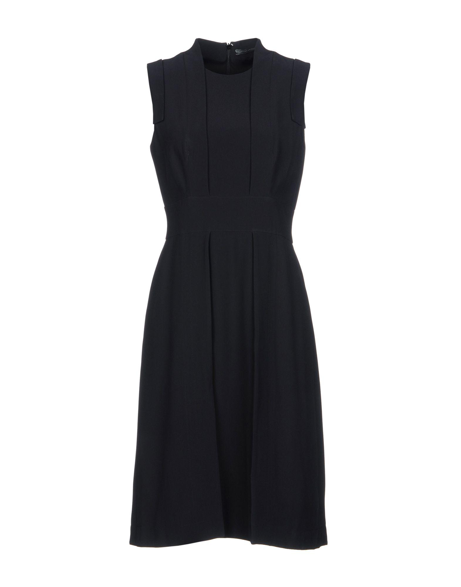 Alexander Mcqueen Knee-length Dress In Black
