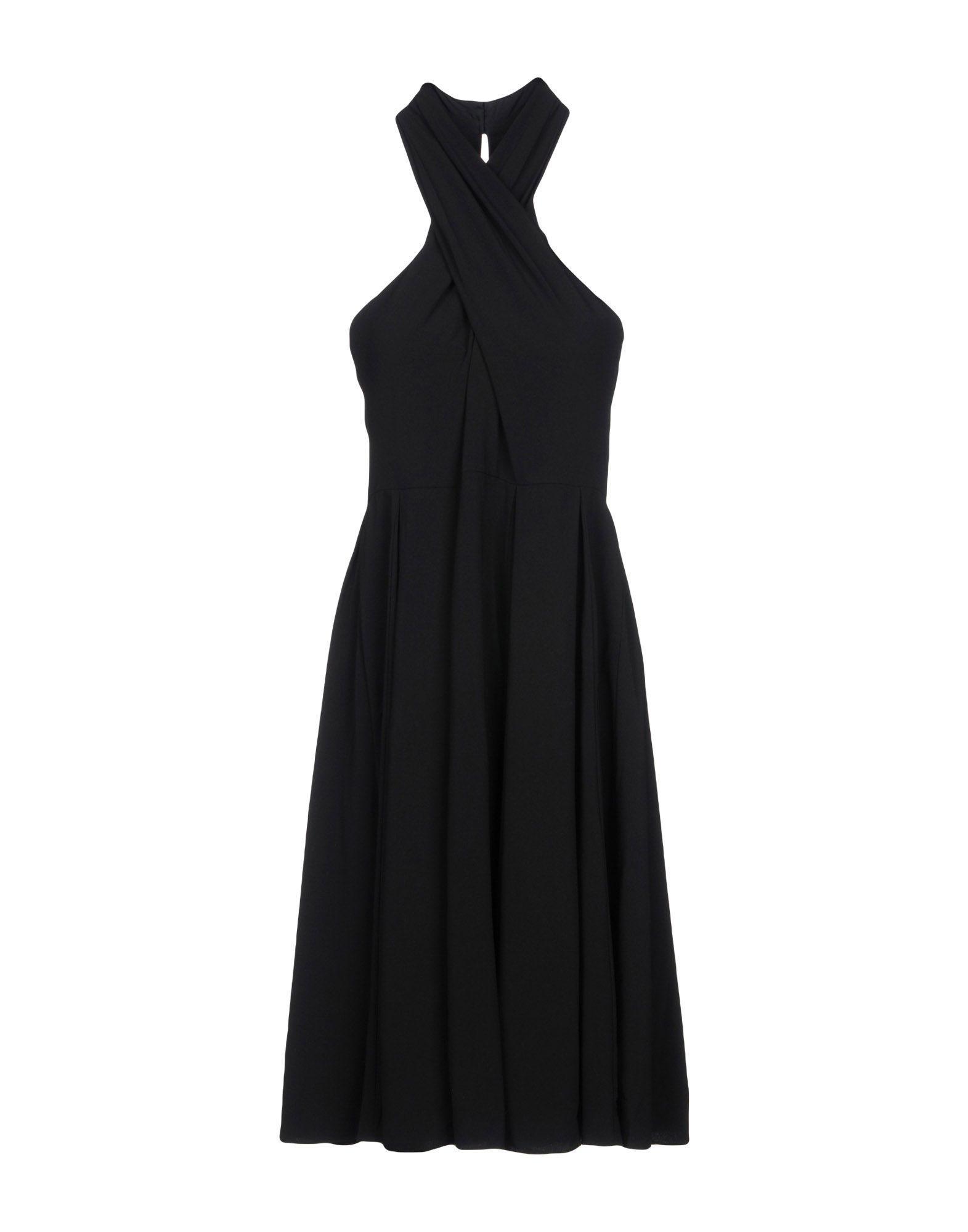 Halston Heritage Knee-length Dresses In Black