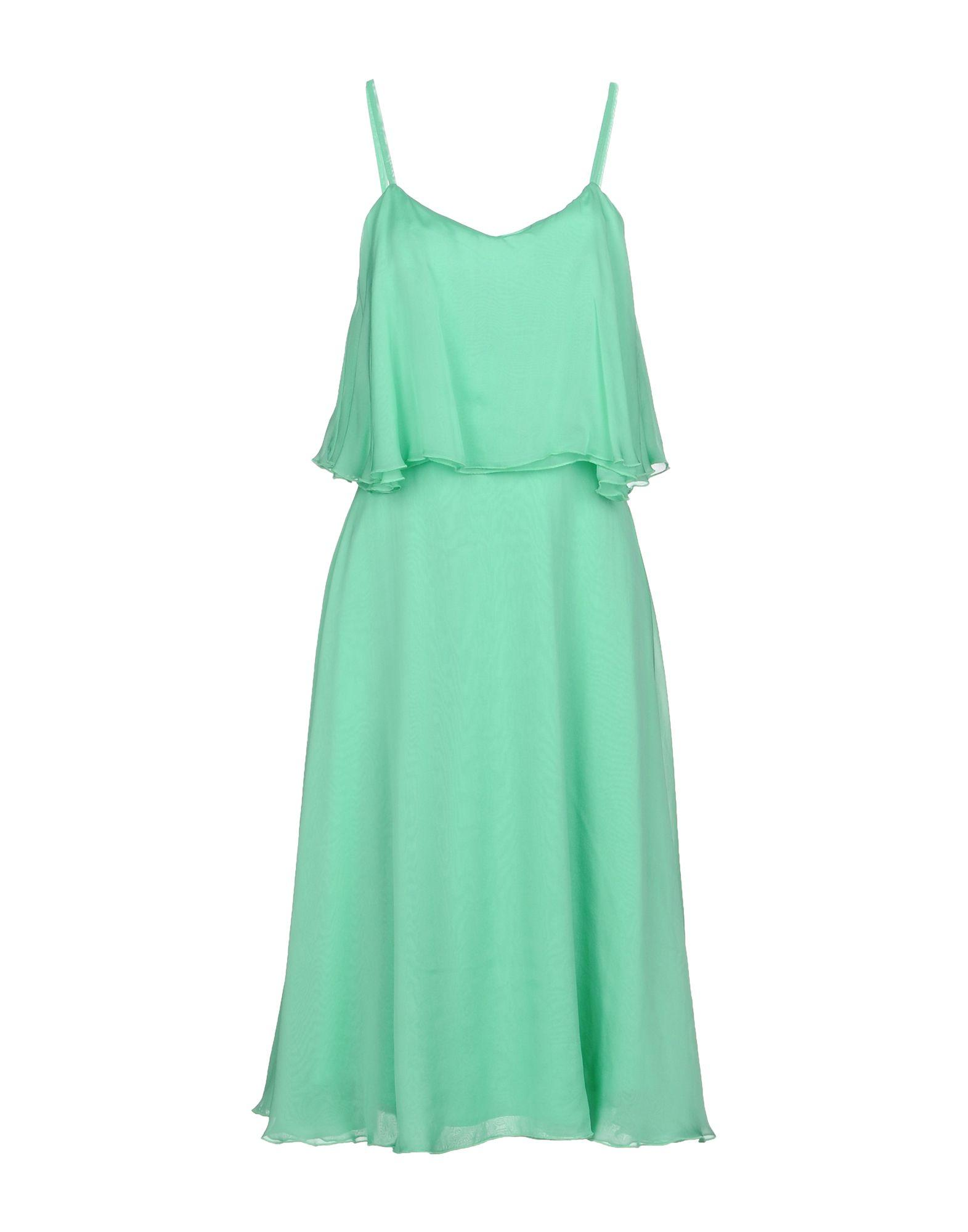 Space Style Concept Knee-length Dress In Light Green