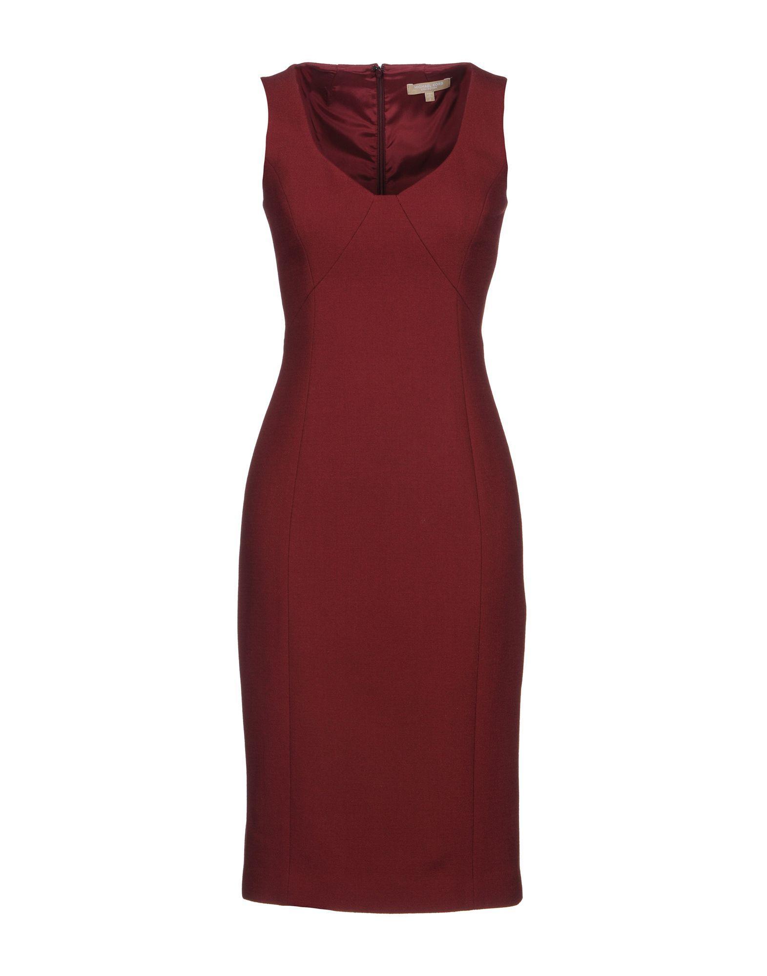 Michael Kors Knee-length Dress In Maroon