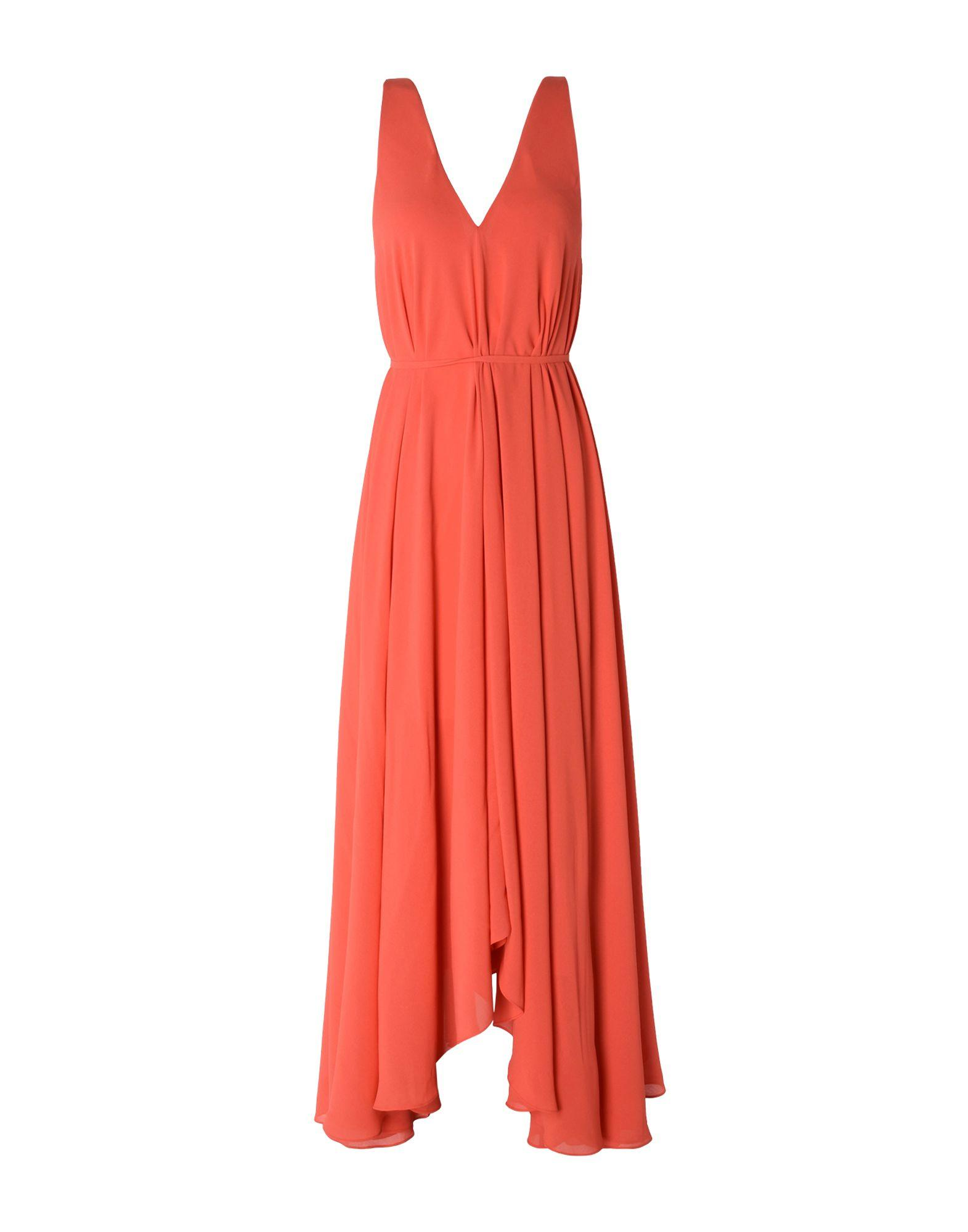 Saloni Long Dresses In Orange