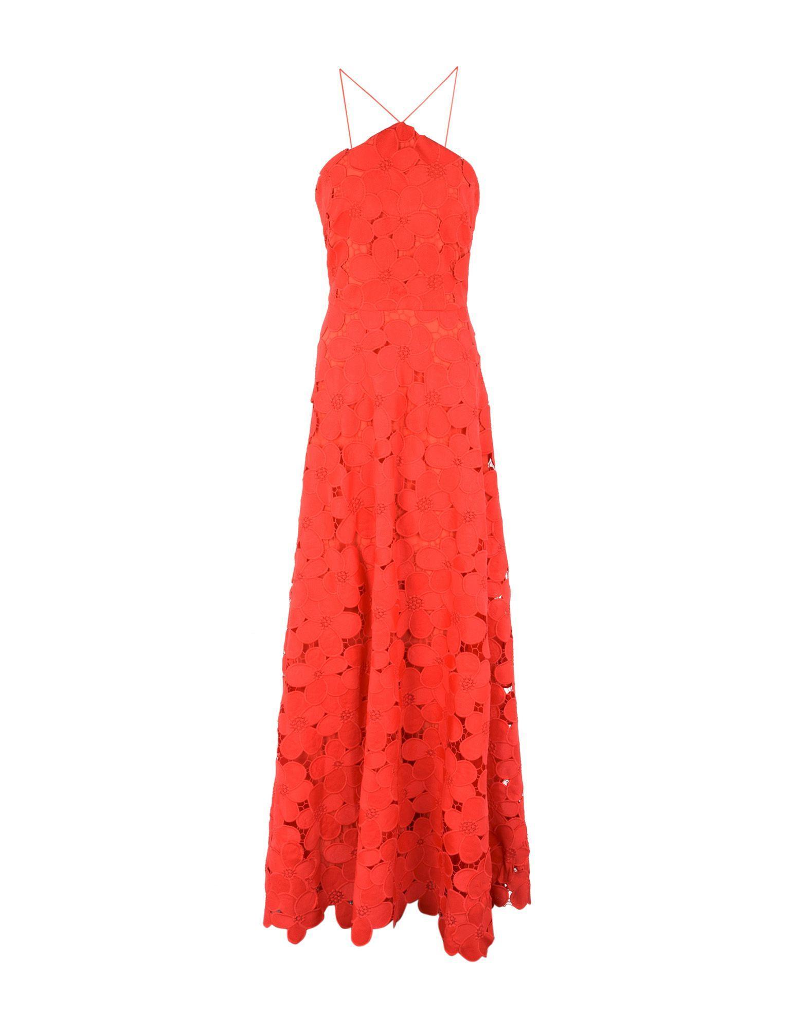 Badgley Mischka Long Dress In Red