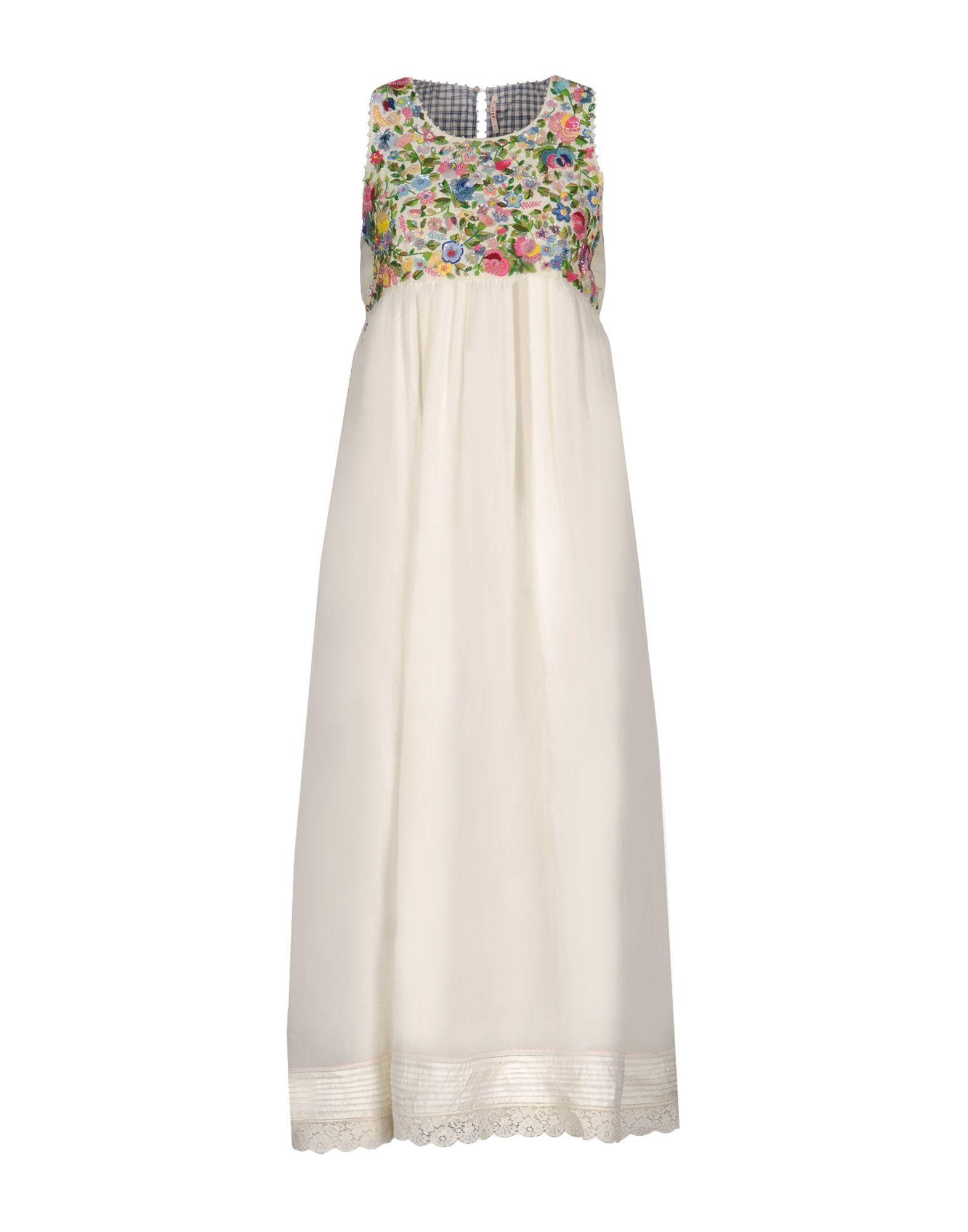 PÉro Long Dresses In Ivory