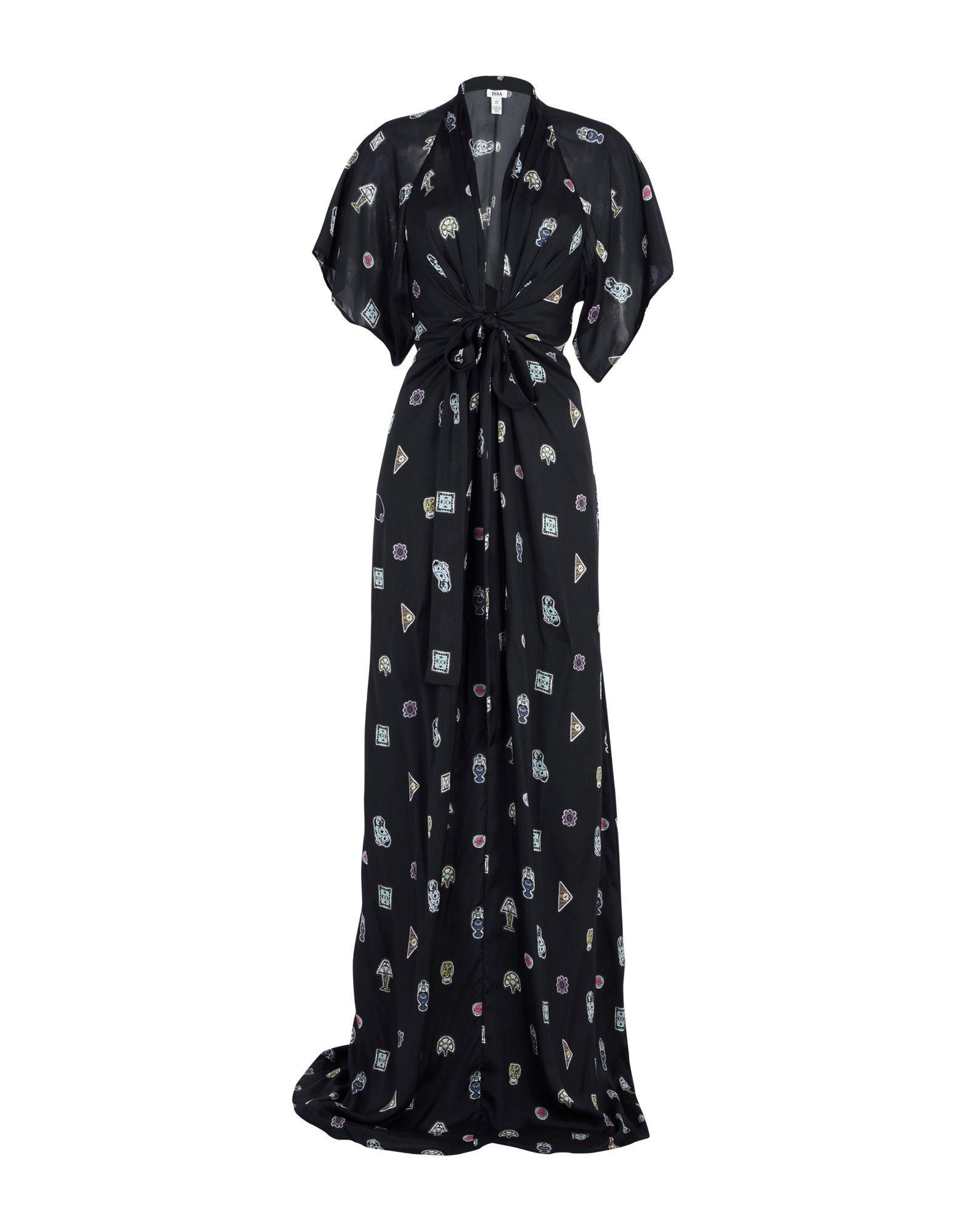 Issa Long Dresses In Black
