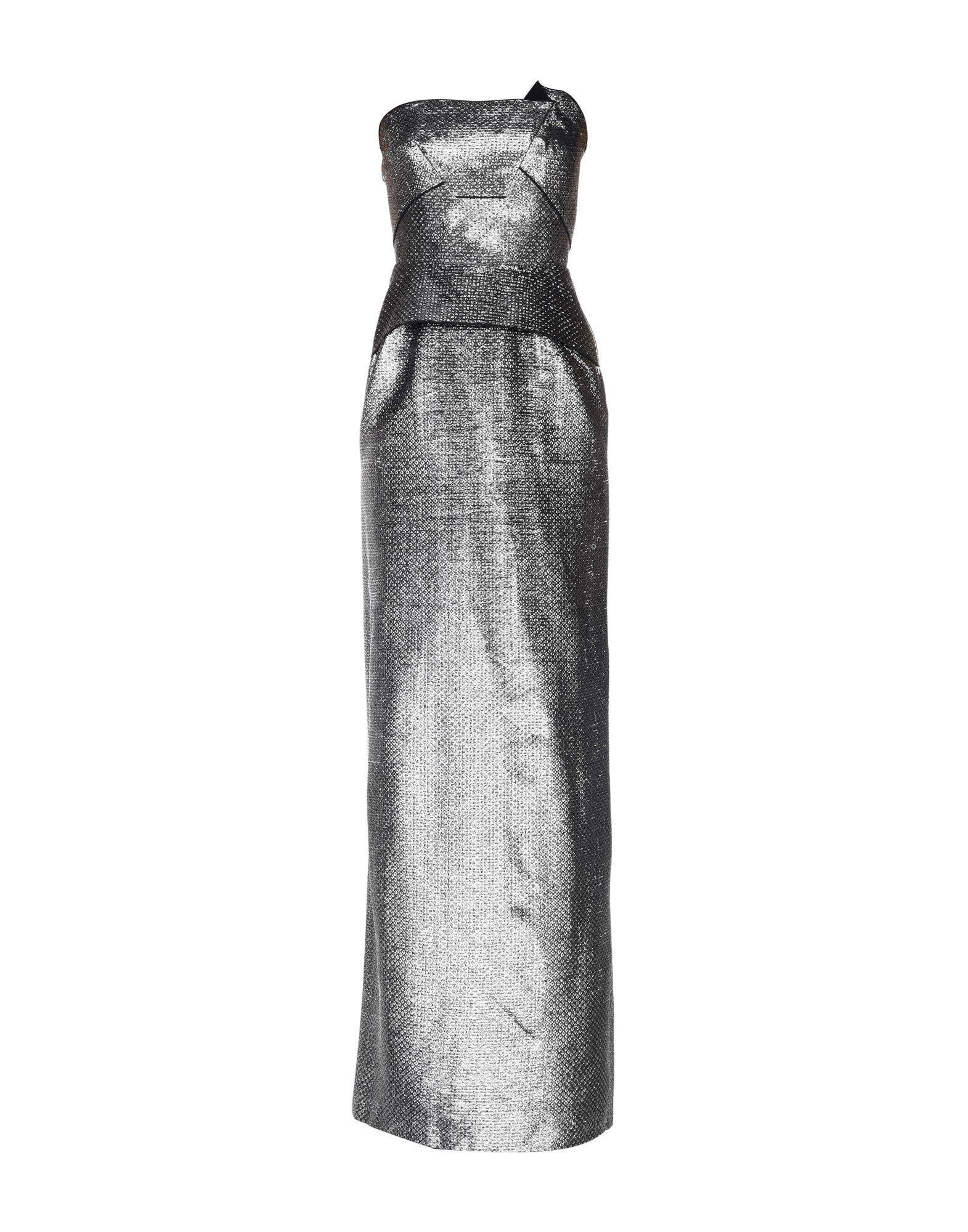 Roland Mouret Long Dresses In Silver