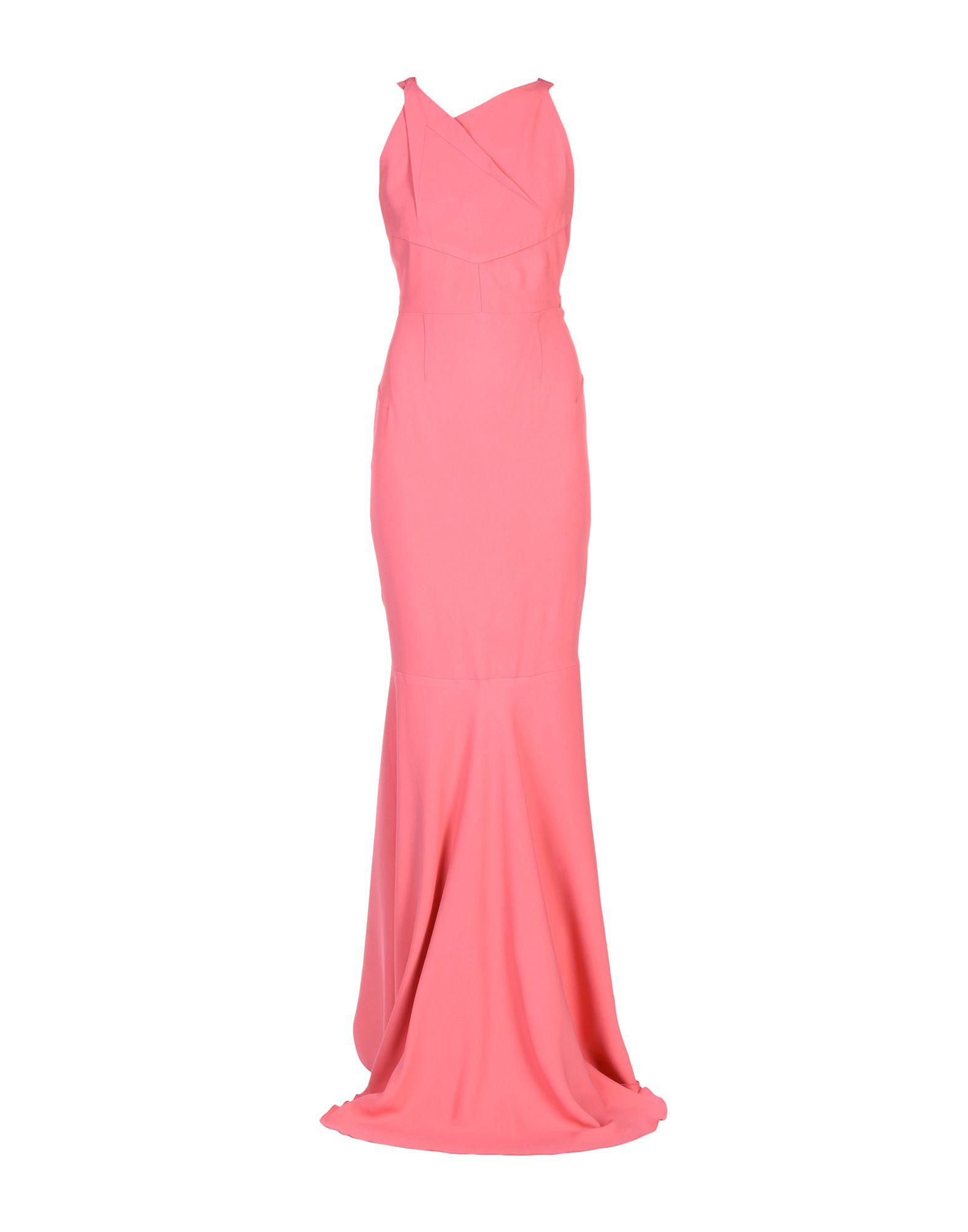 Roland Mouret Long Dress In Pink