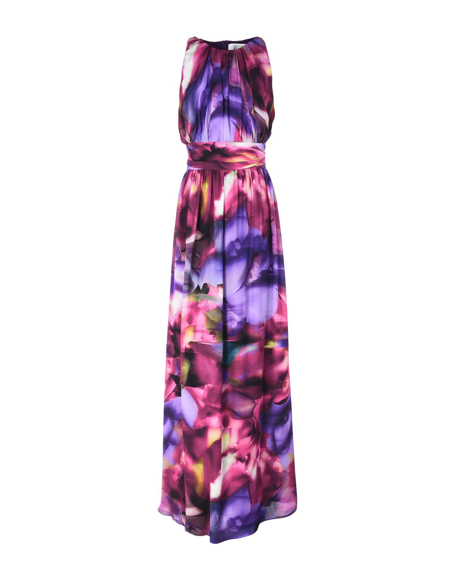 Badgley Mischka Long Dresses In Purple