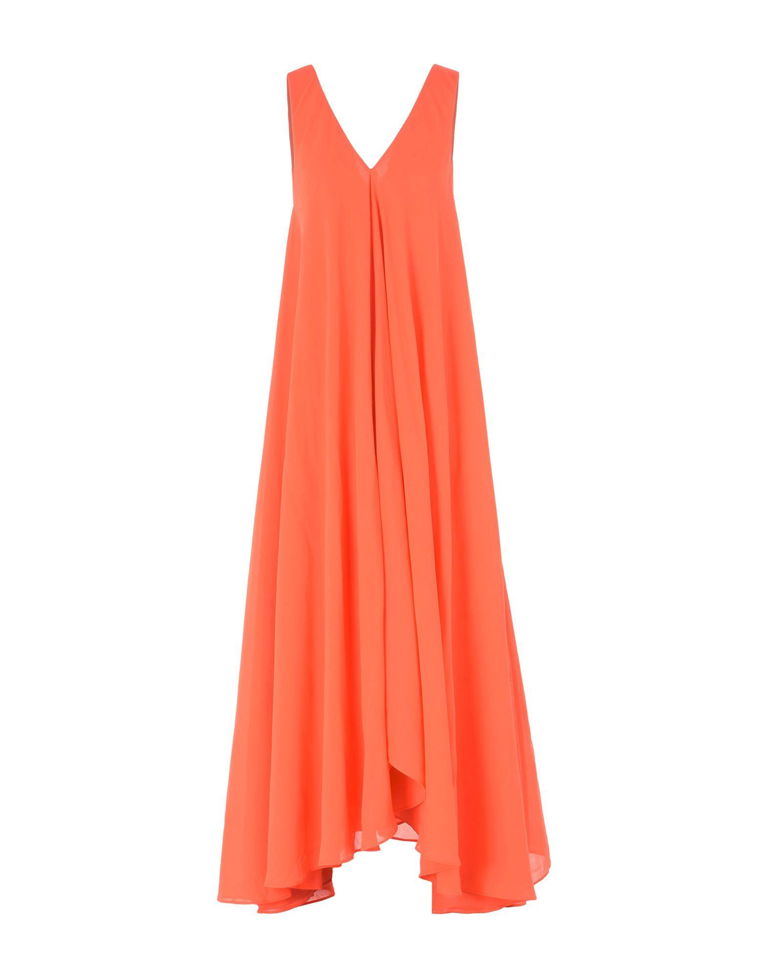 Saloni Long Dresses In Coral