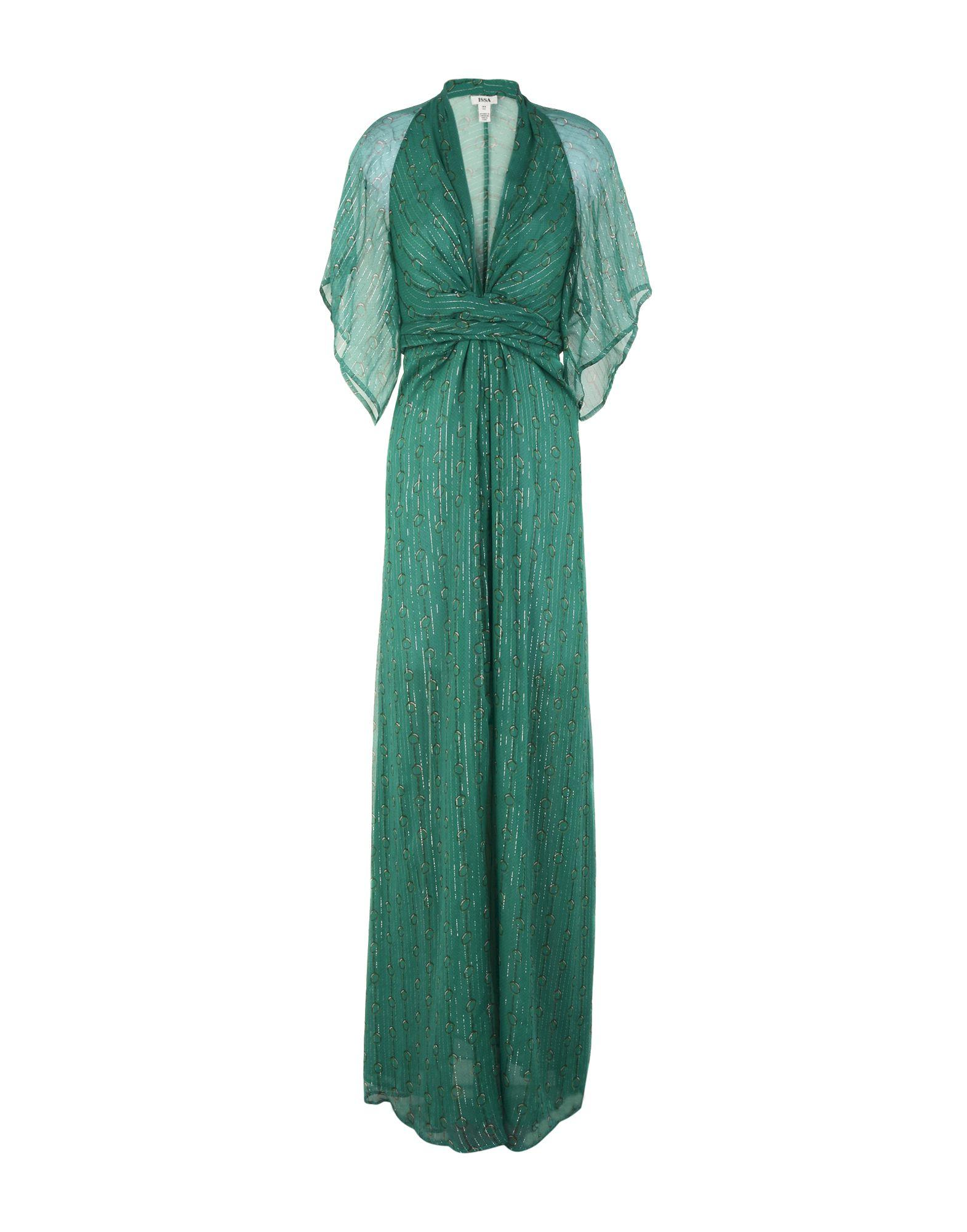 Issa Long Dresses In Emerald Green