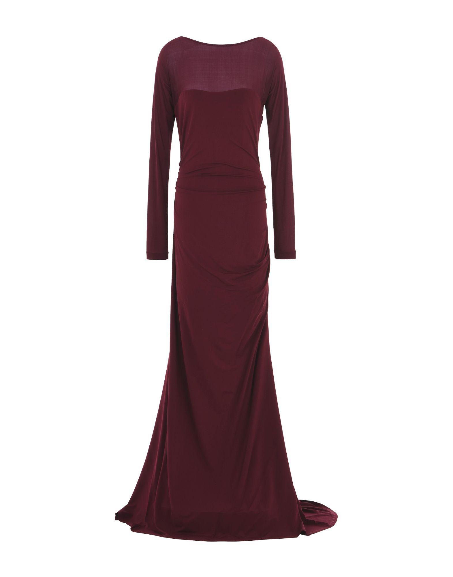 Donna Karan Long Dresses In Garnet