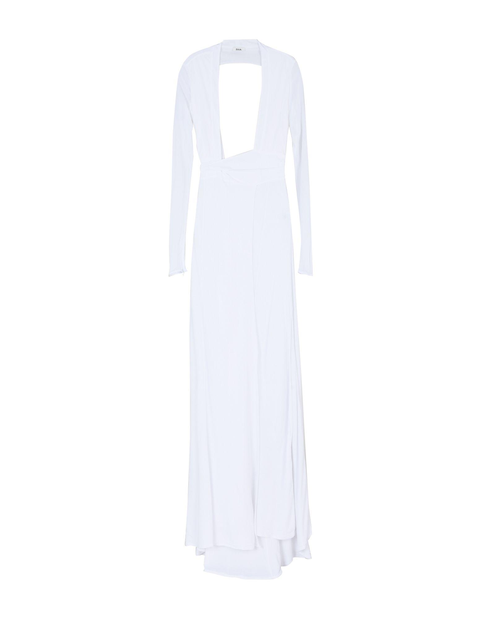 Issa Long Dress In White