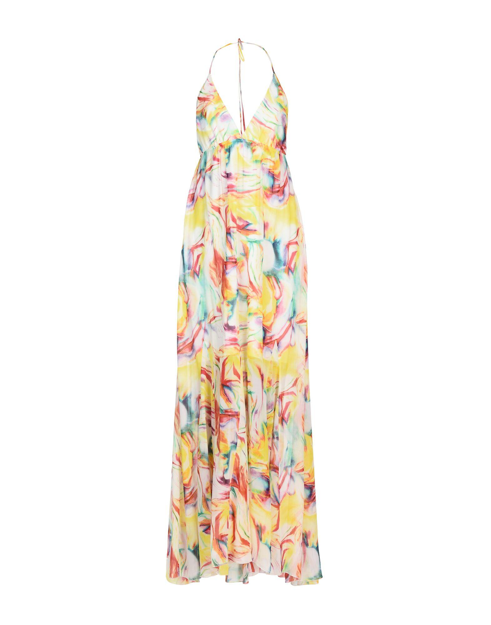 Alice And Olivia Long Dress In Yellow