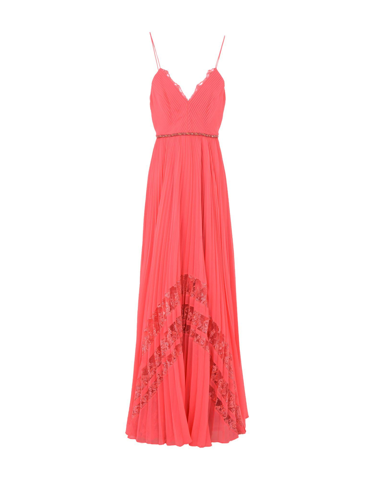 Badgley Mischka Long Dresses In Coral