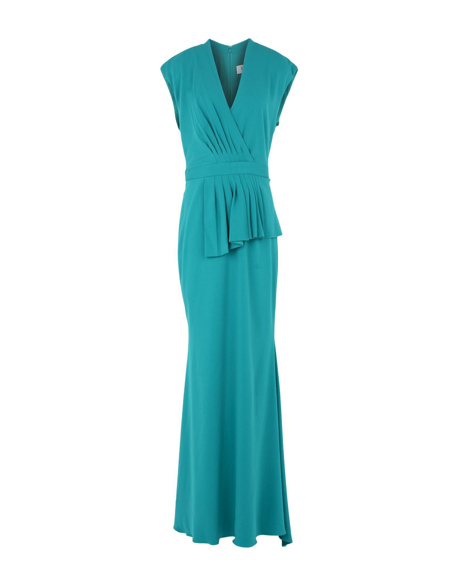 Badgley Mischka Long Dresses In Green