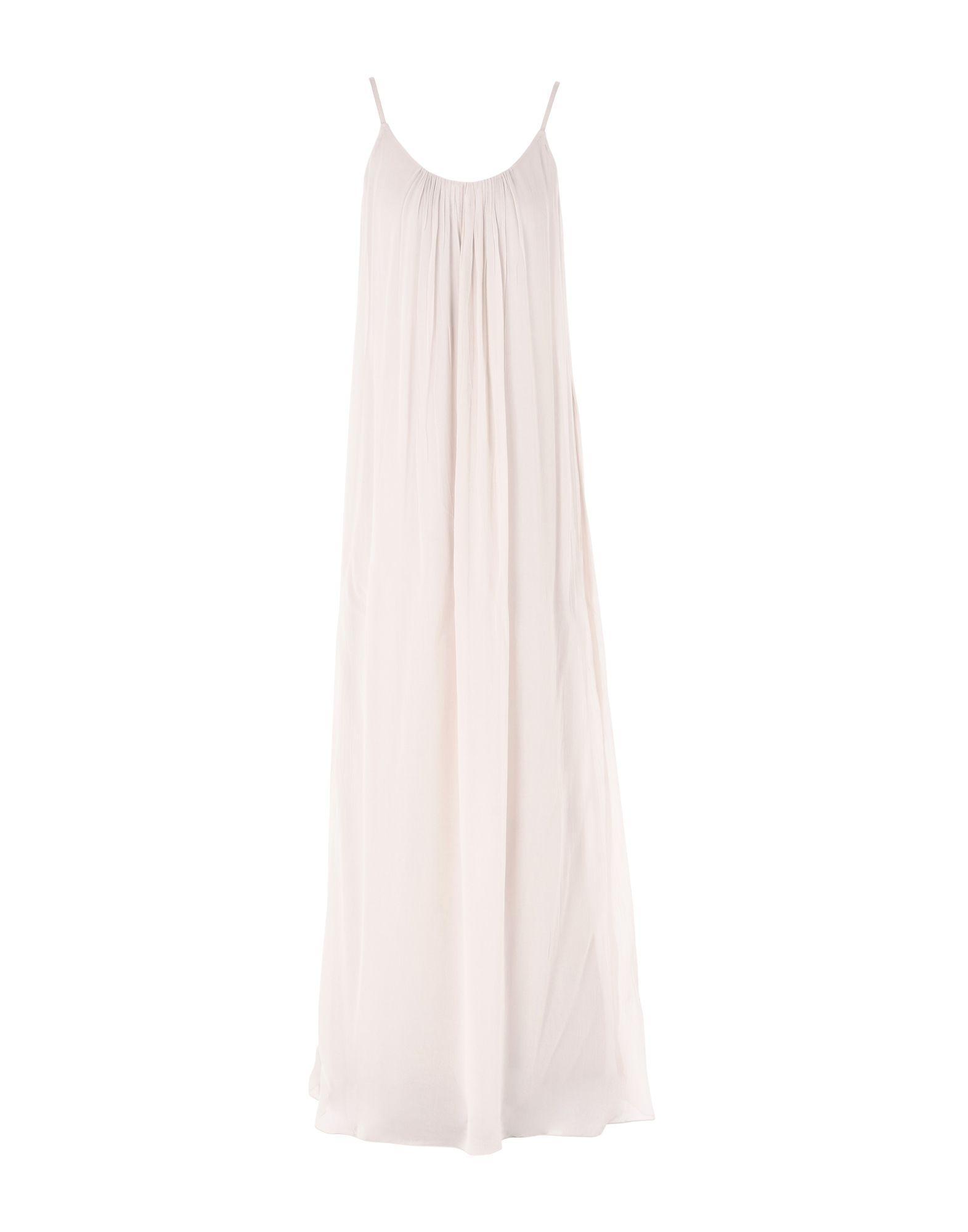Iris & Ink Long Dress In Light Grey