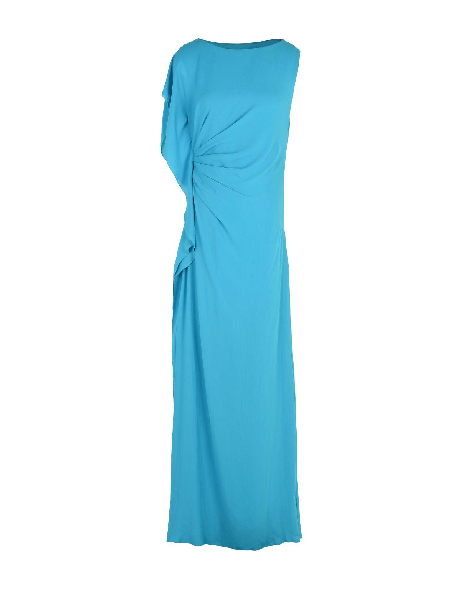 Halston Heritage Long Dresses In Turquoise