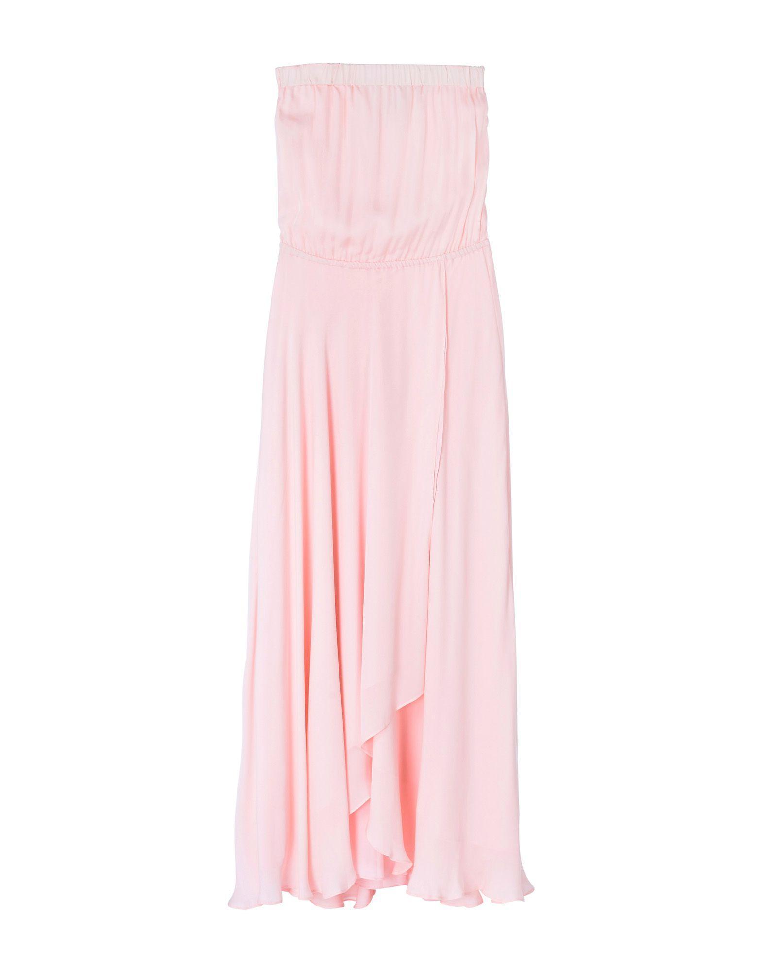 Haute Hippie Long Dress In Light Pink