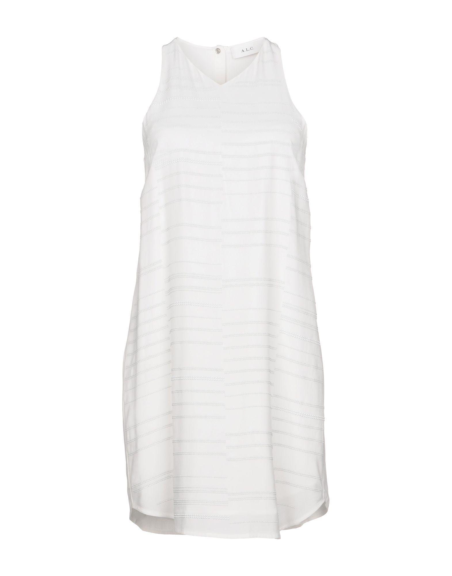 A.l.c Short Dress In White
