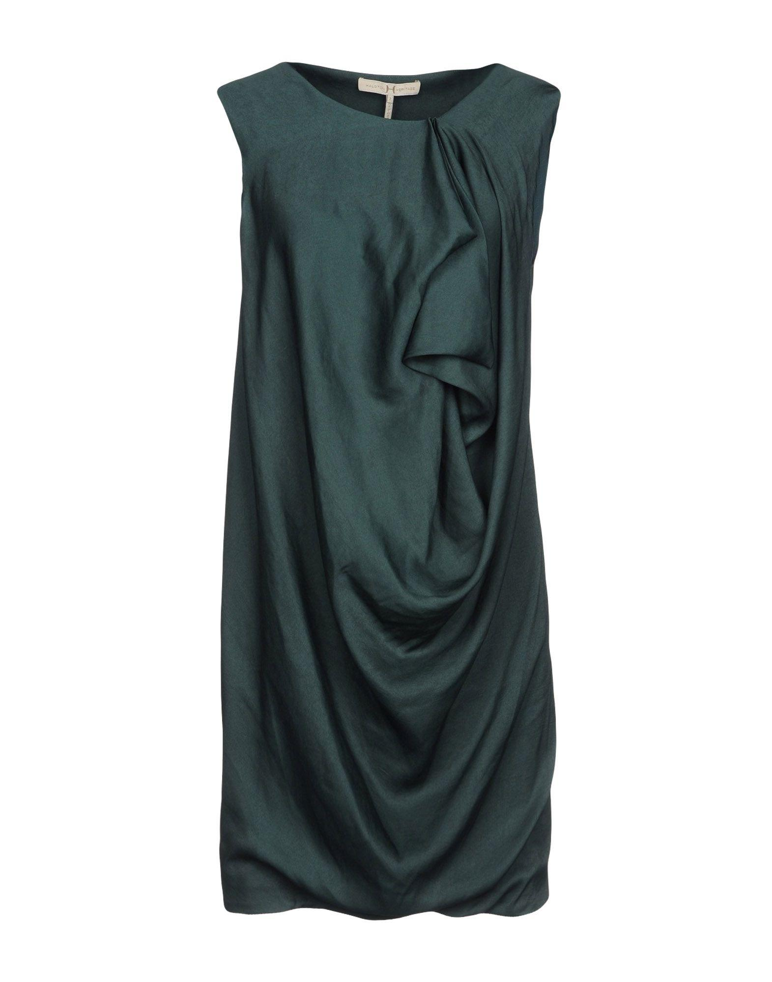 Halston Heritage Short Dresses In Dark Green