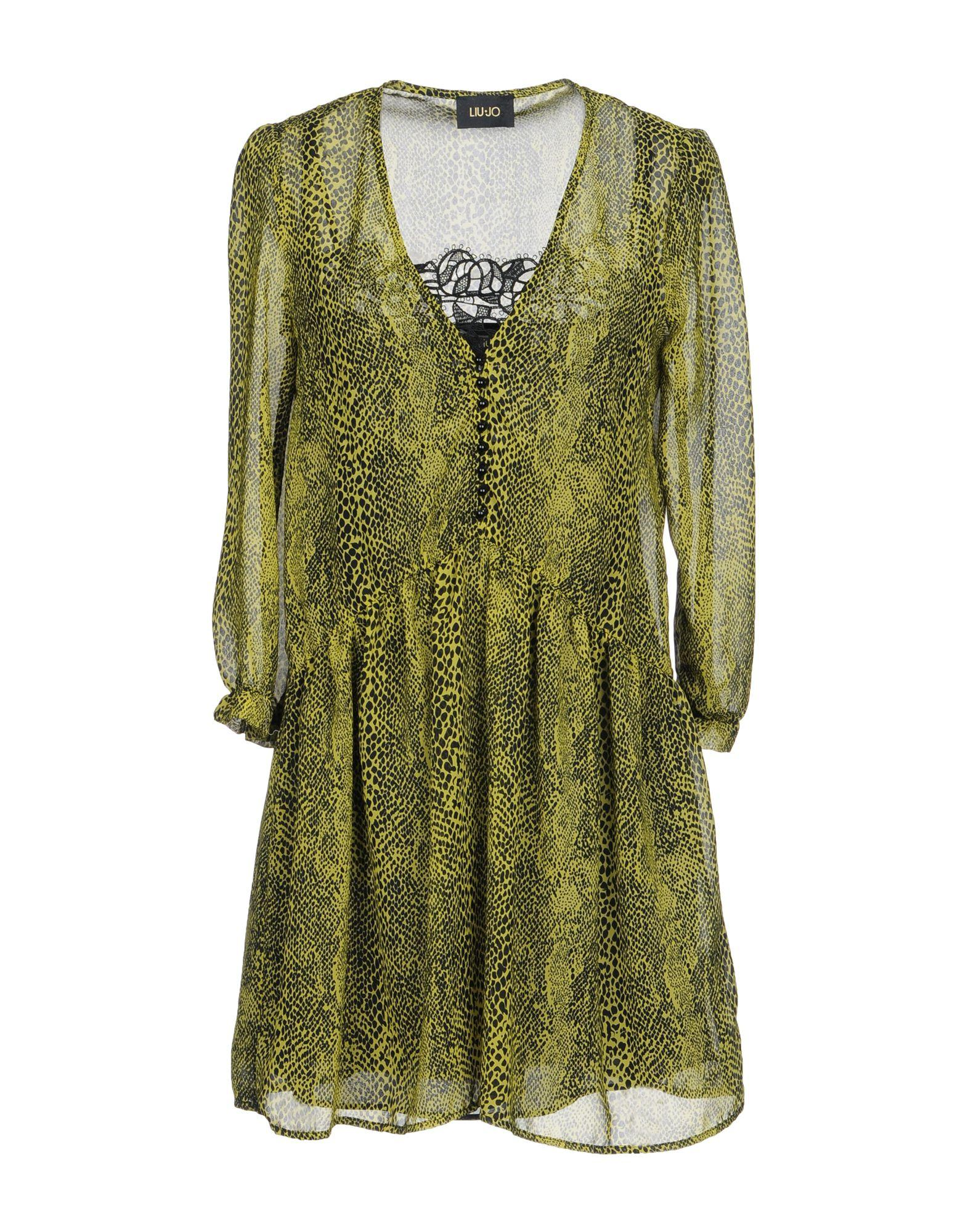 Liu •jo Shirt Dress In Acid Green