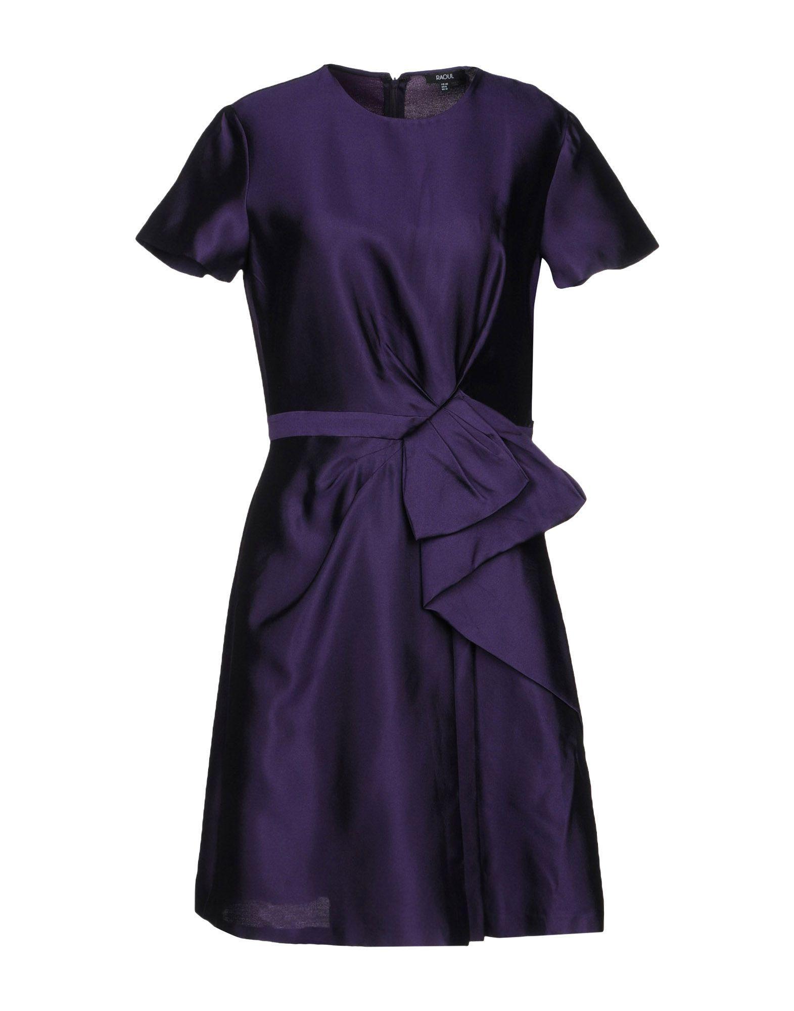 Raoul Short Dresses In Purple