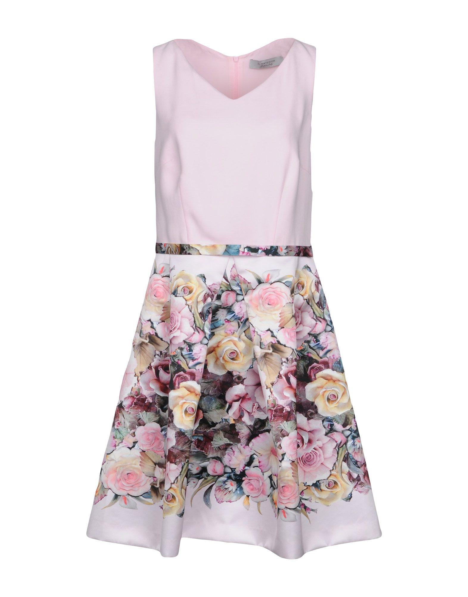 D.exterior Short Dress In Pink