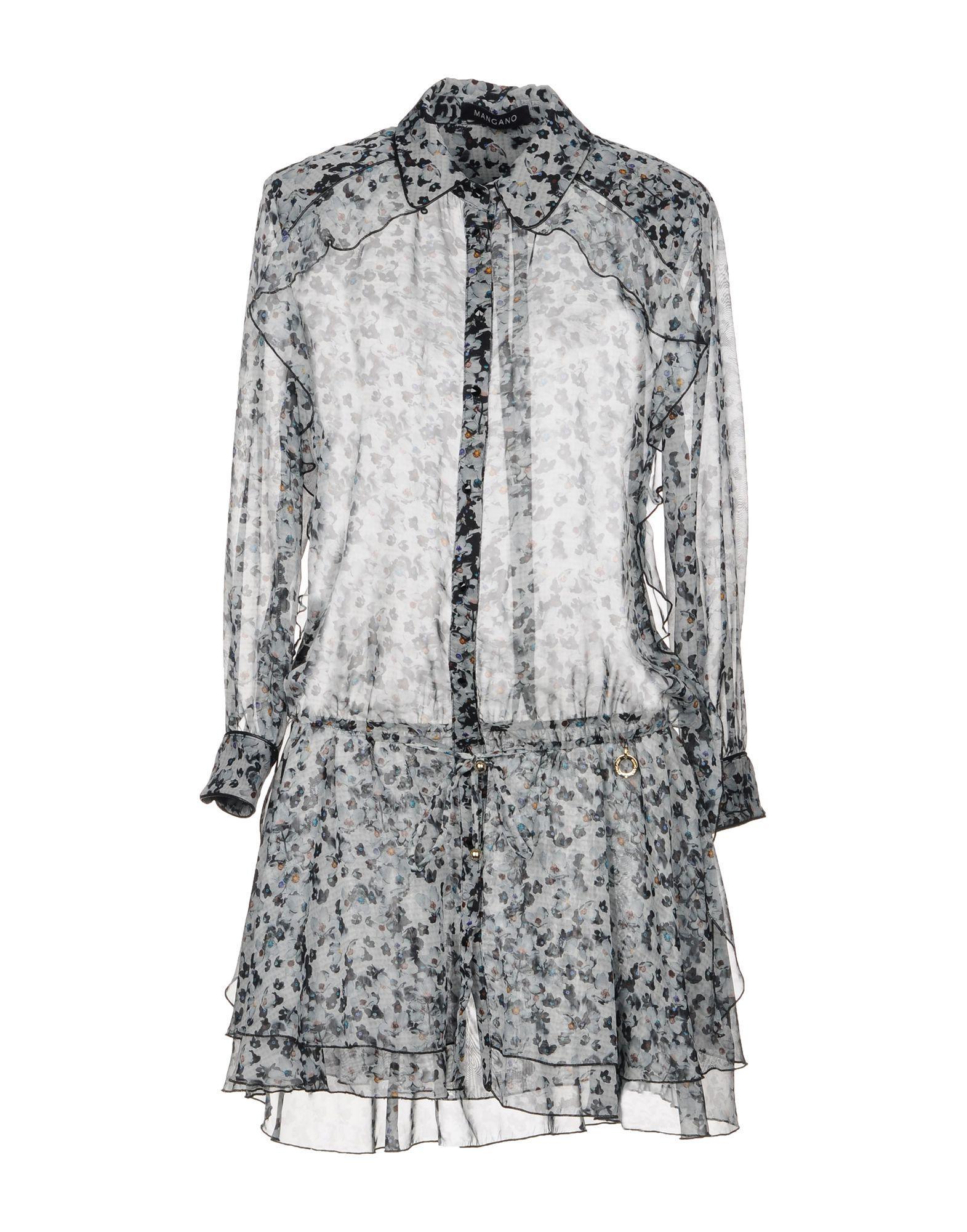 Mangano Short Dresses In Light Grey