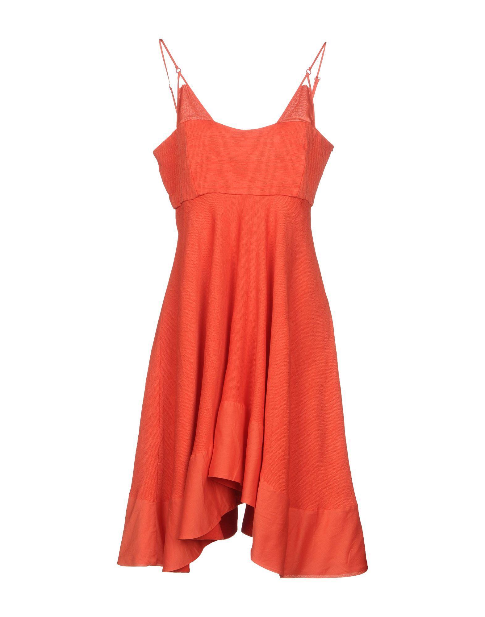 Philosophy Di Alberta Ferretti Short Dresses In Red