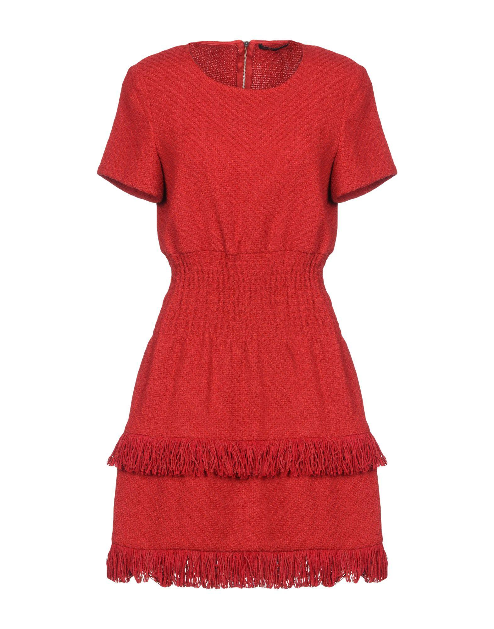 Maje Short Dresses In Red