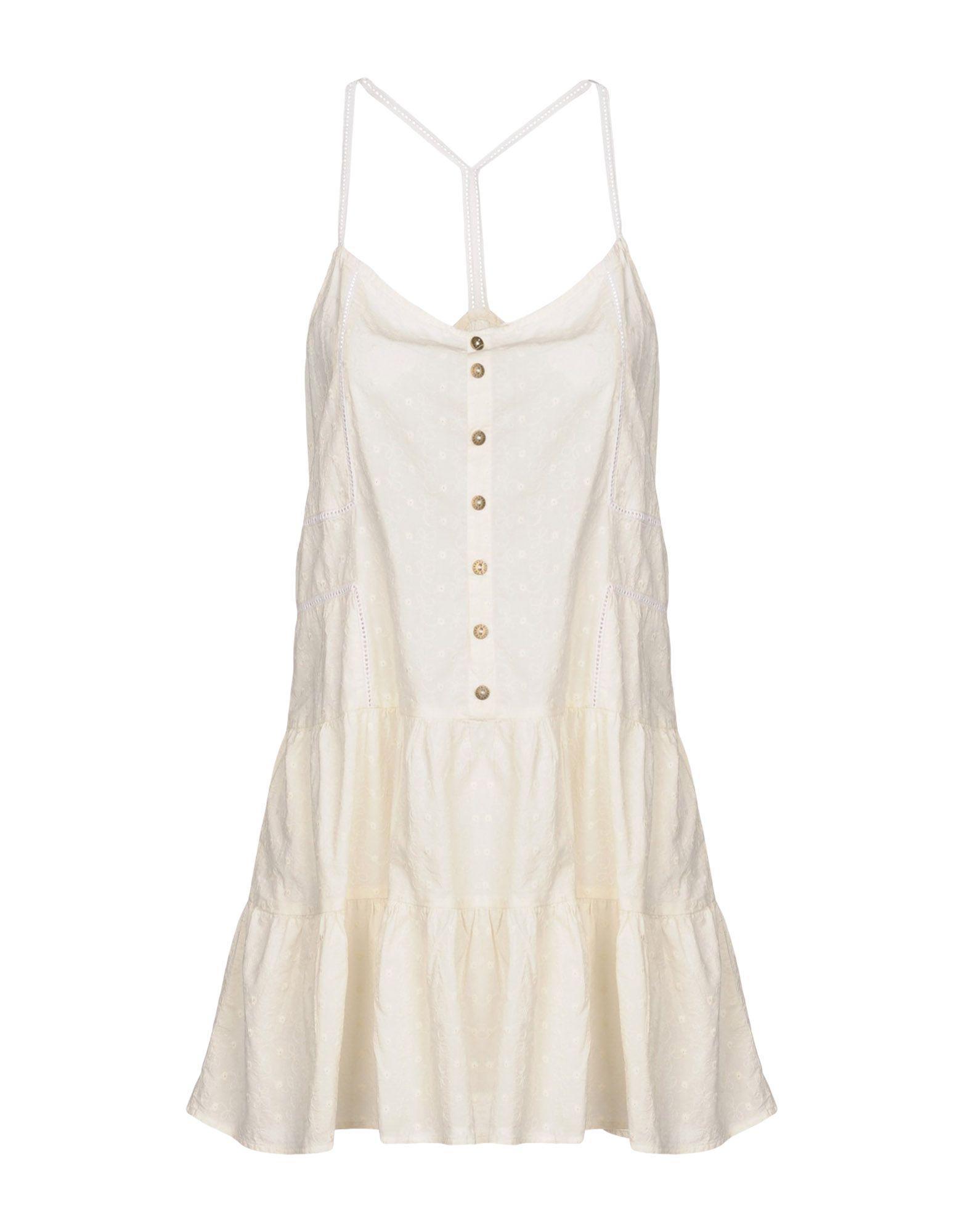 Current Elliott Short Dresses In Ivory