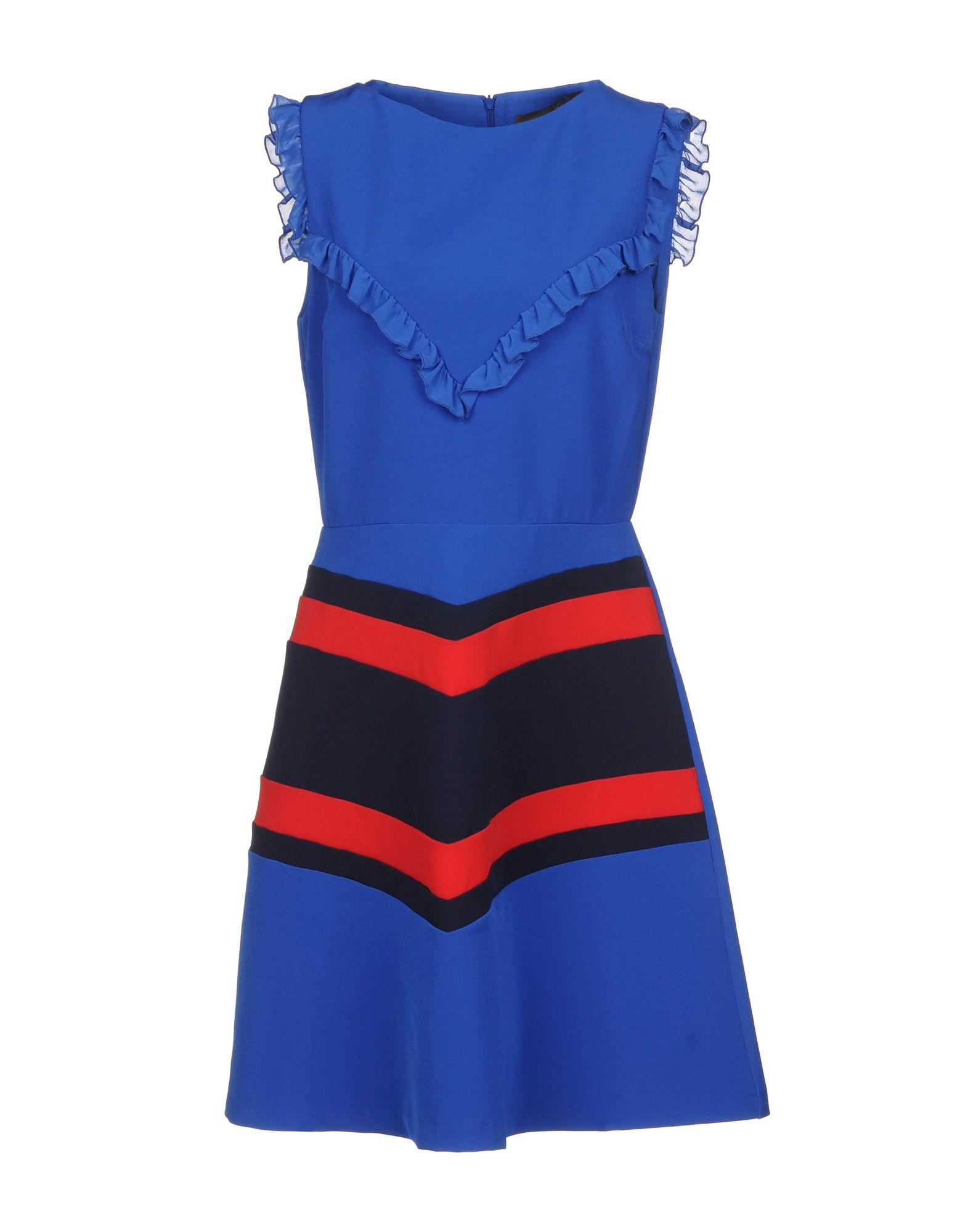Space Style Concept Short Dress In Bright Blue
