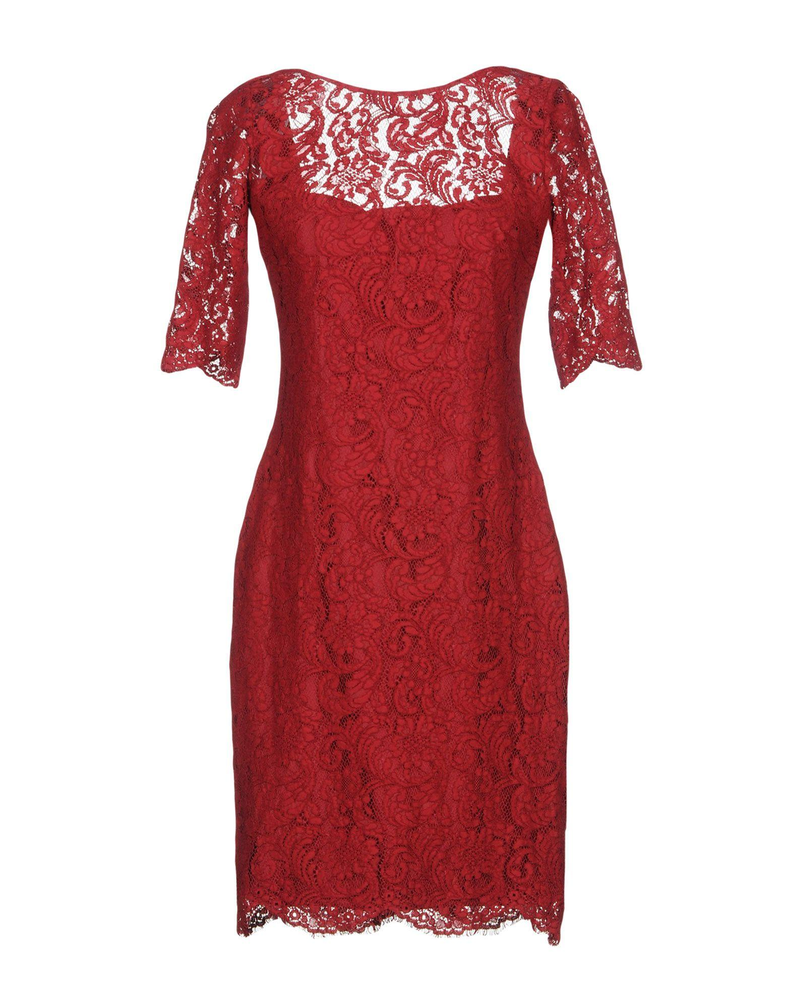Mikael Aghal Short Dresses In Red