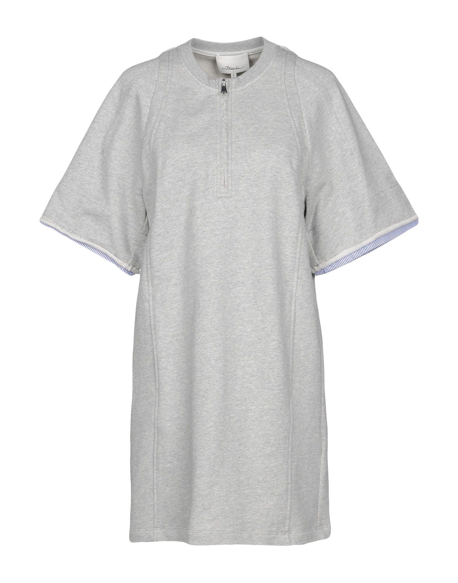 3.1 Phillip Lim Short Dress In Grey