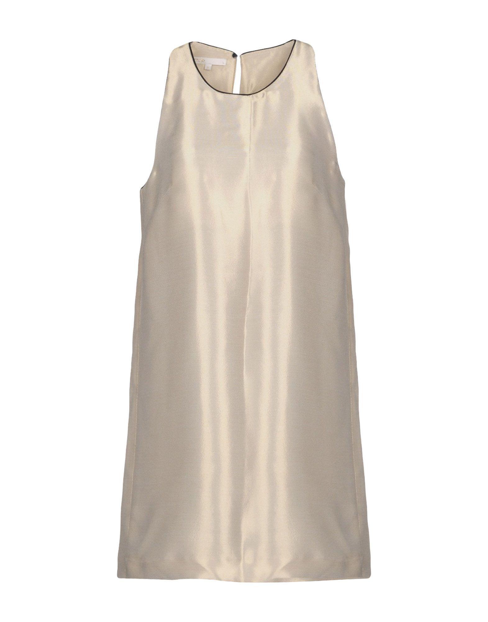 Maje Short Dress In Gold