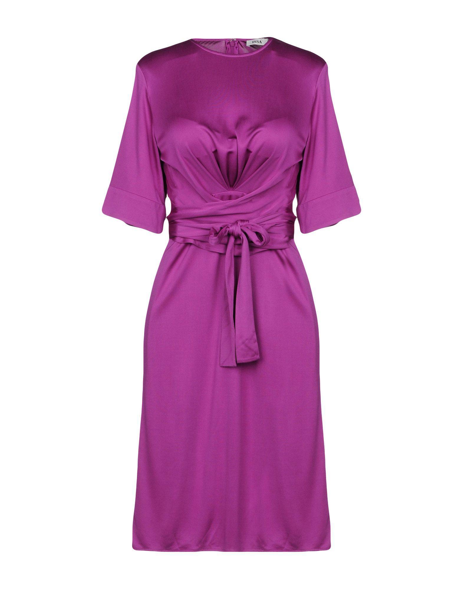Issa Short Dresses In Mauve