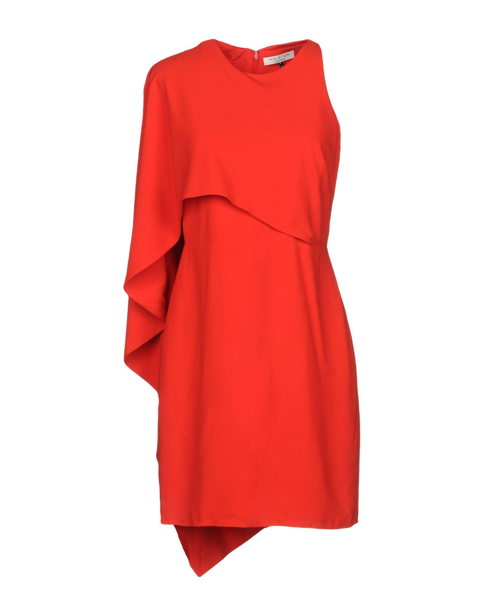 Halston Heritage Short Dress In Red
