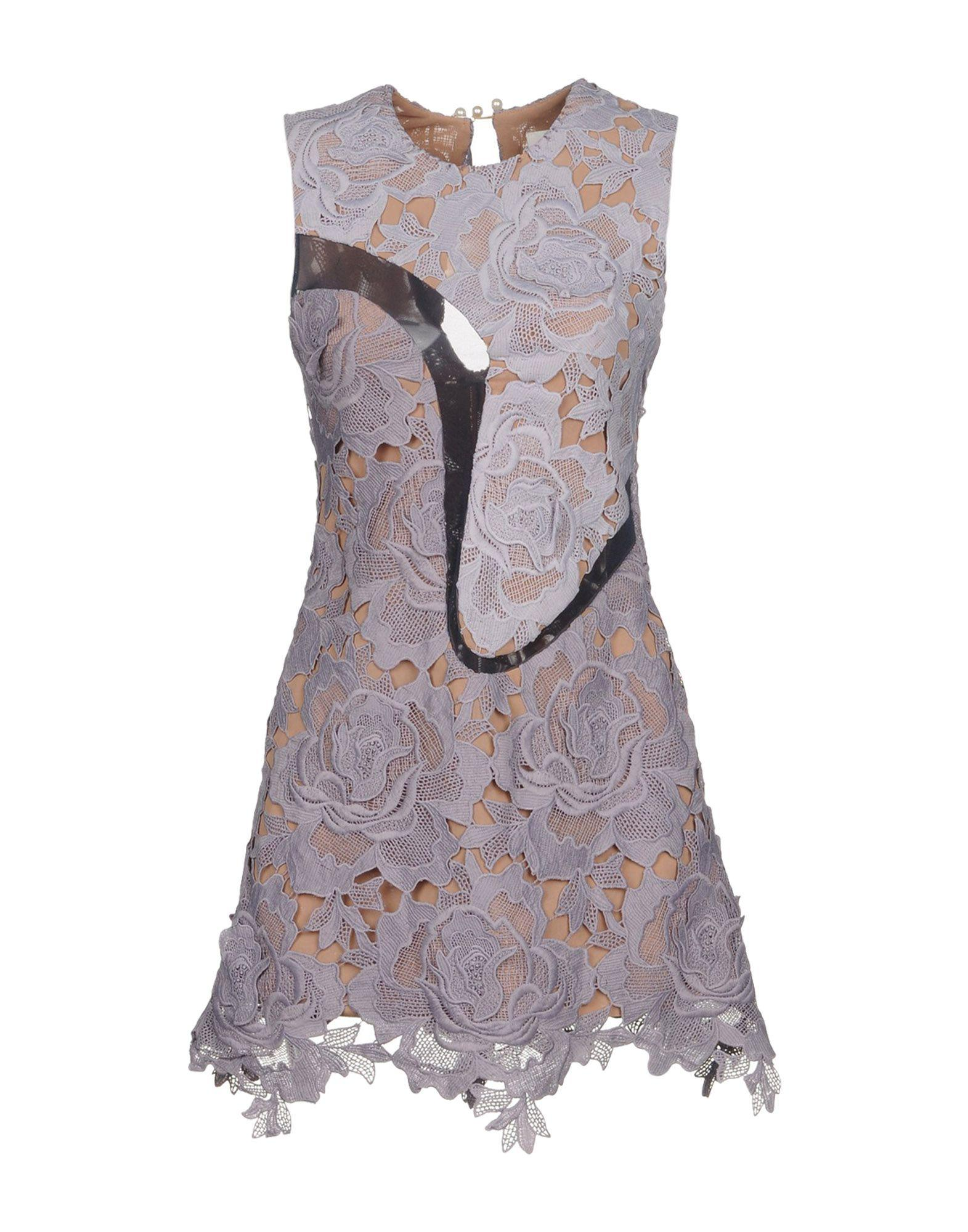 Self-portrait Short Dress In Lilac